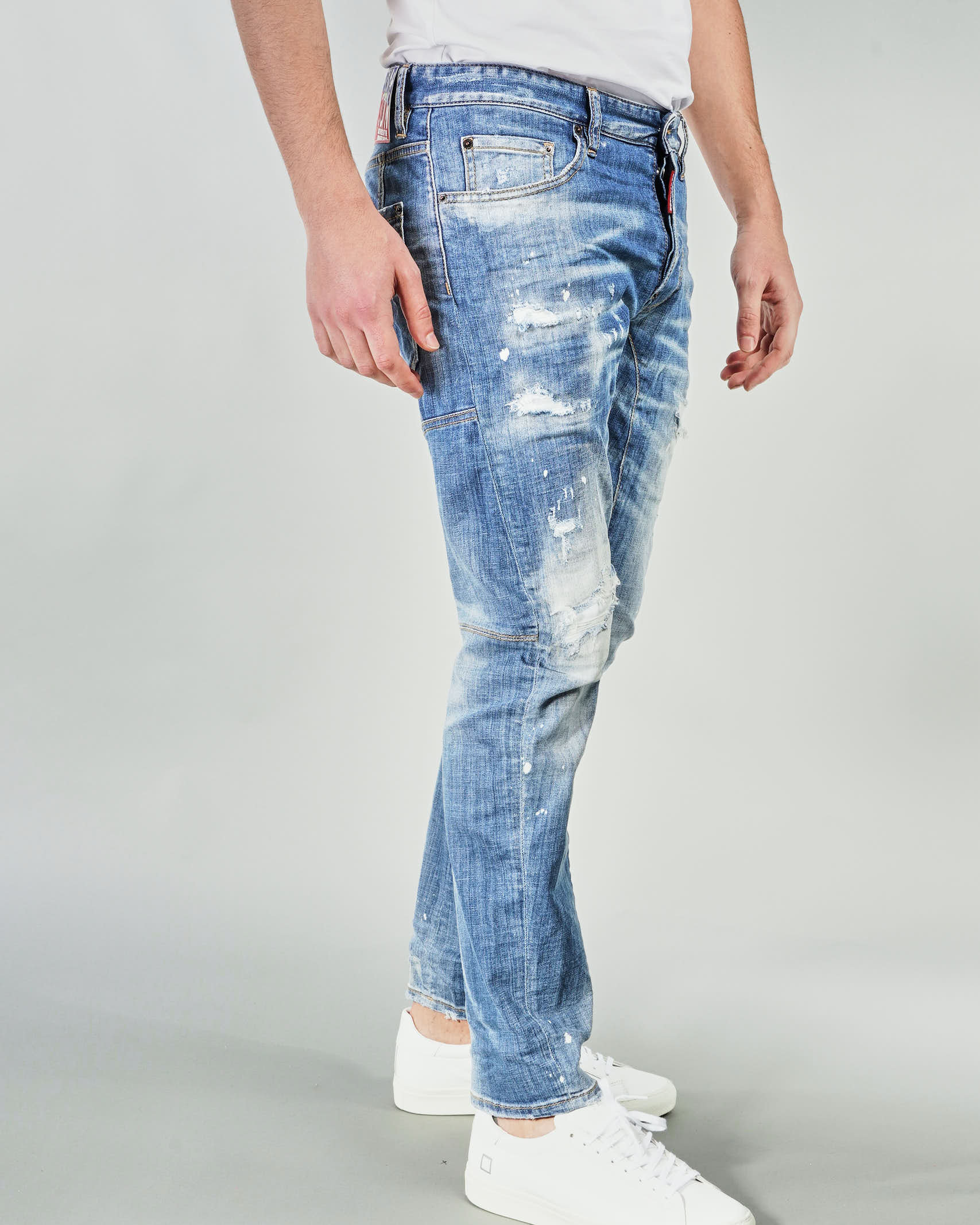 Jeans Ripped White Spots Wash Tidy Biker Dsquared DSQUARED | Jeans | S79LA0022DENIM