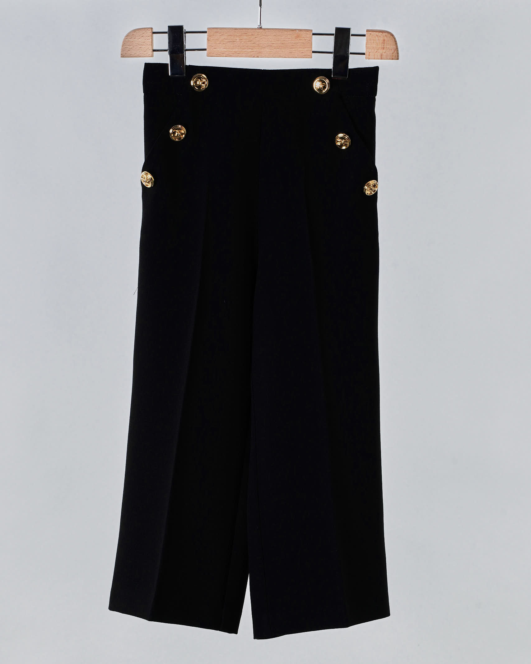 Pantalone con bottoni oro light Elisabetta Franchi La Mia Bambina ELISABETTA FRANCHI LA MIA BAMBINA | Pantalone | EFPA119GA85WE025N015