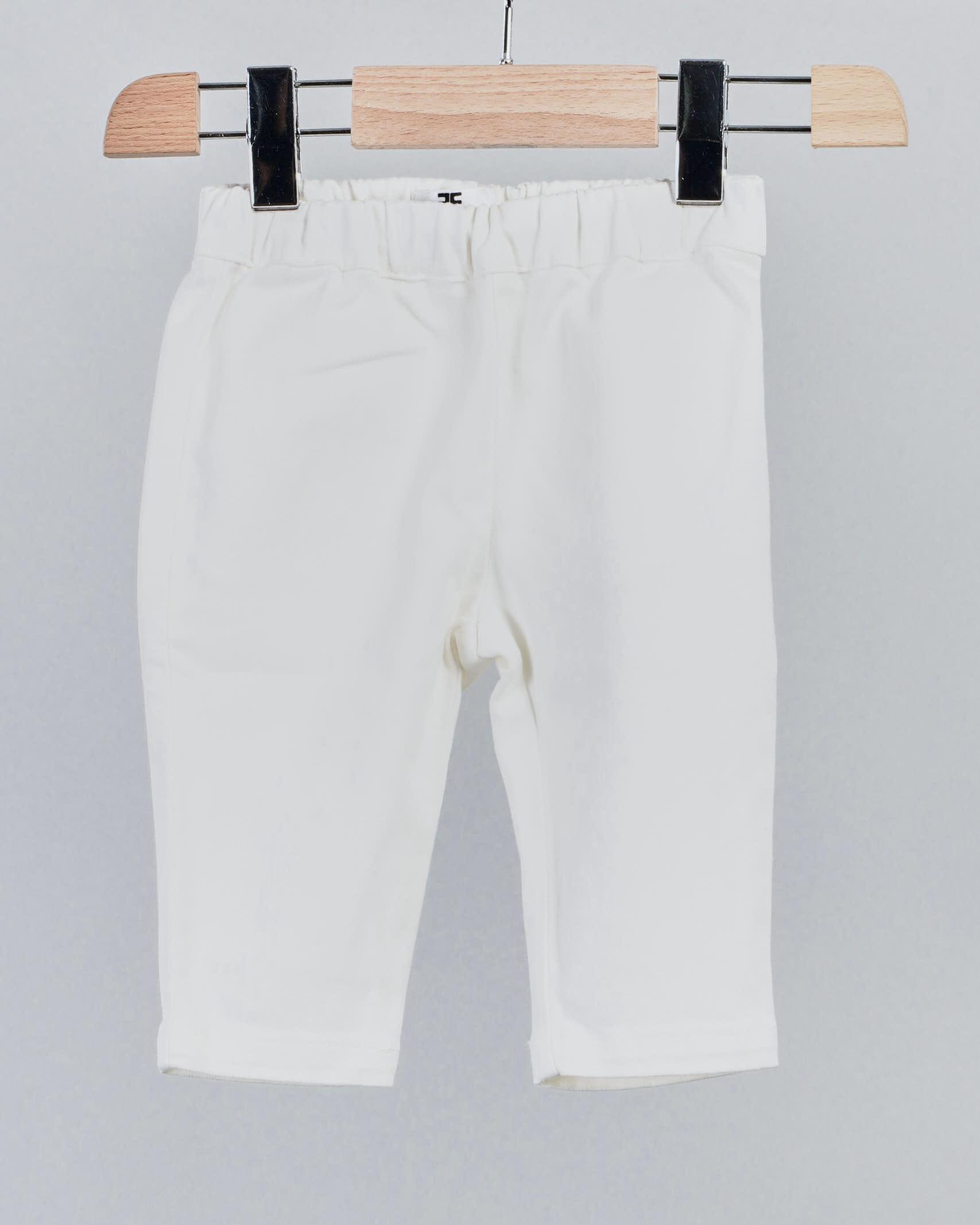 Pantalone con logo e frange Elisabetta Franchi La Mia Bambina ELISABETTA FRANCHI LA MIA BAMBINA | Pantalone | EGPA27CE197WE01412