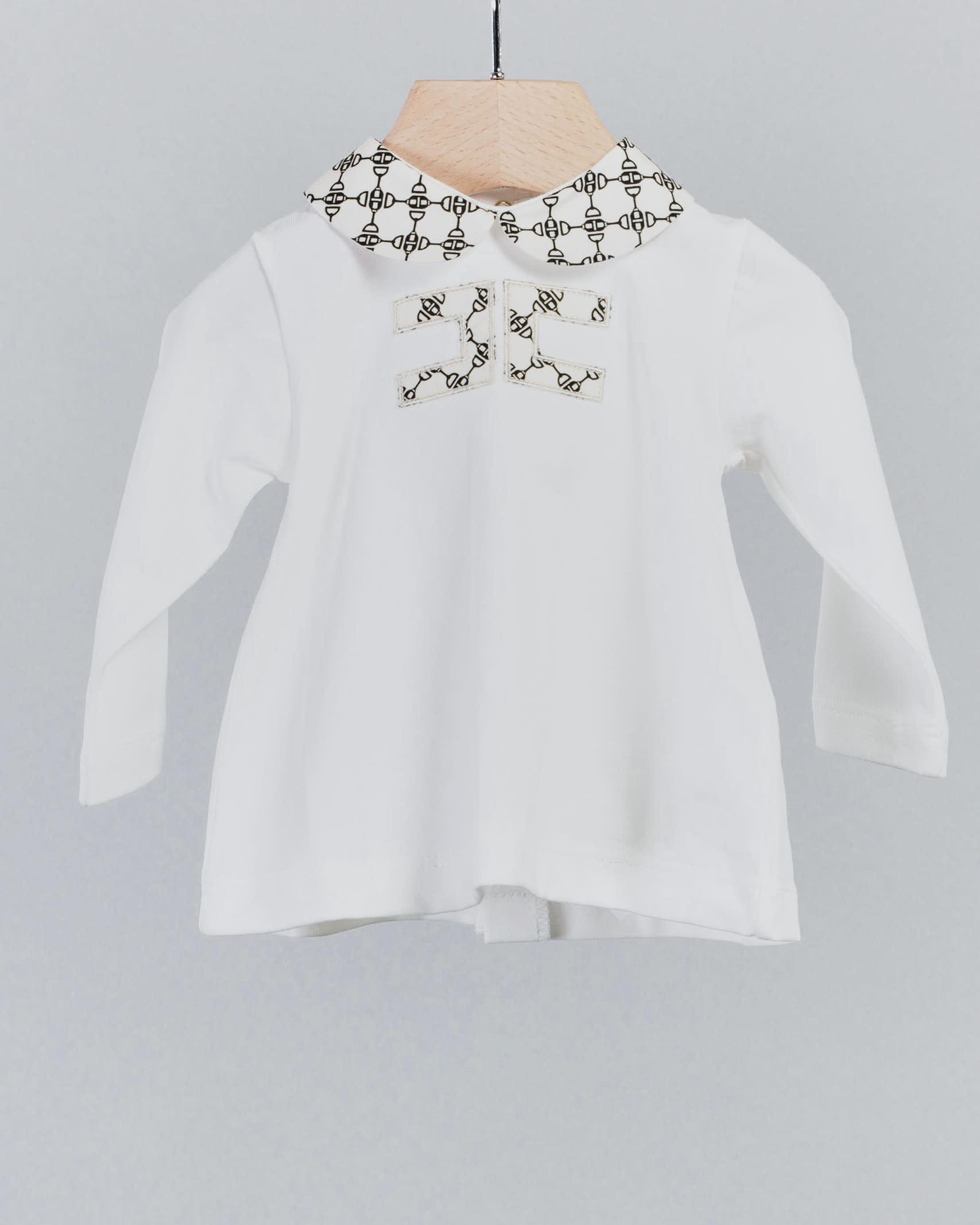 Completo con colletto e logo stampato Elisabetta Franchi la Mia bambina ELISABETTA FRANCHI LA MIA BAMBINA   Completo   ENCD34JE95WE041D029