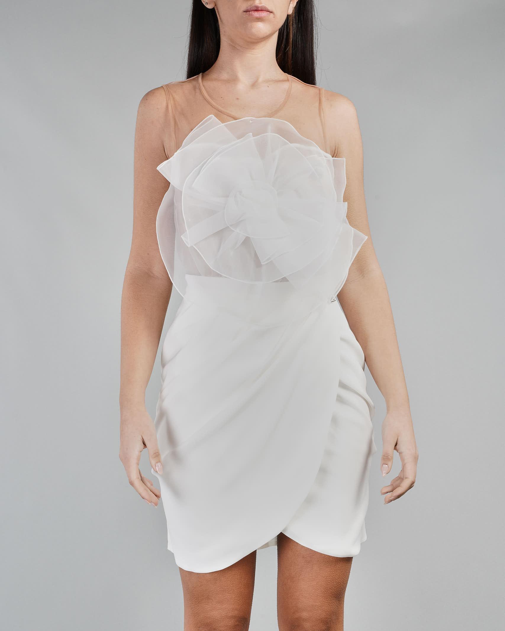Mini abito con fiore in organza Elisabetta Franchi ELISABETTA FRANCHI | Abito | AB11111E2360