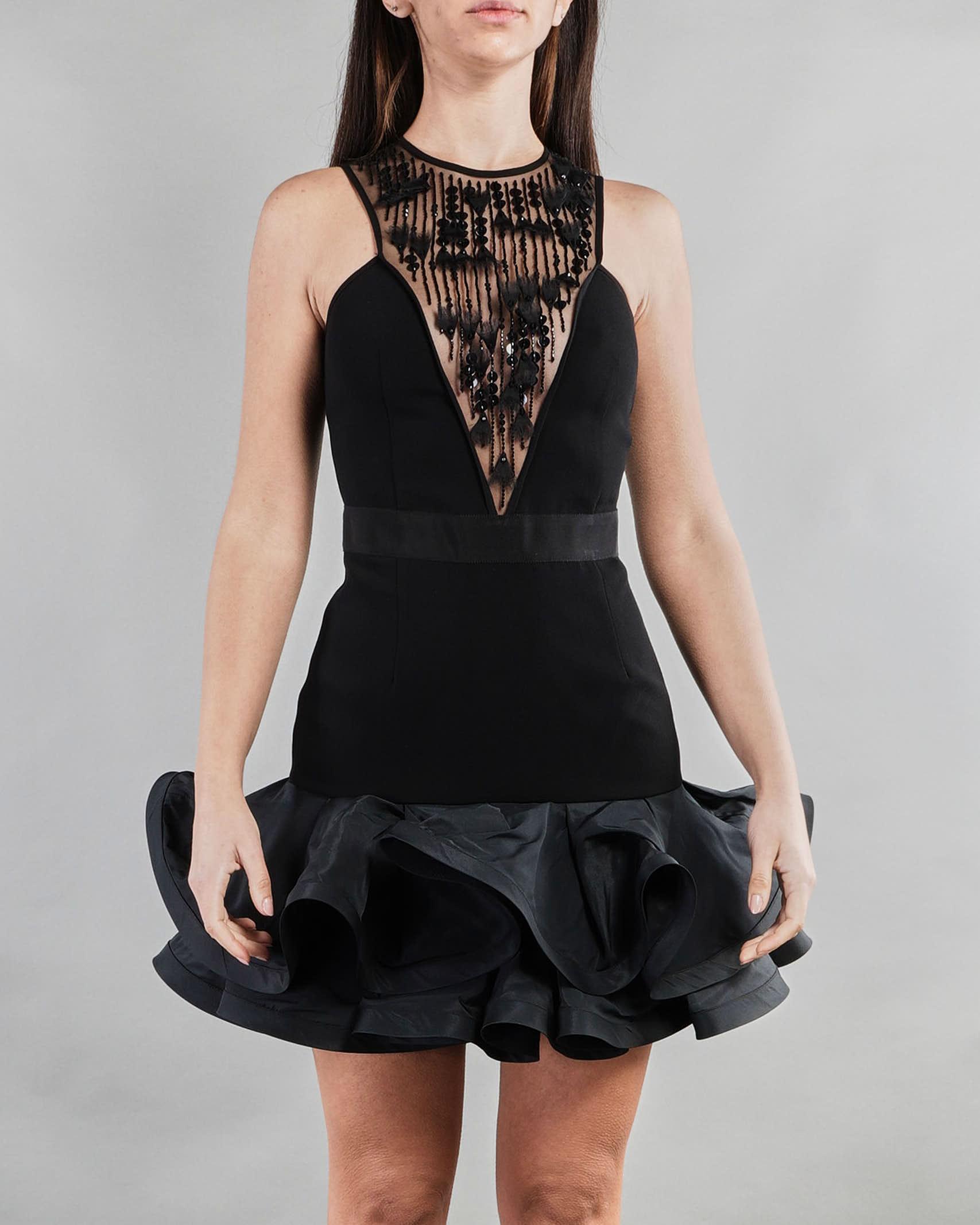 Mini abito con rouches Elisabetta Franchi ELISABETTA FRANCHI | Abito | AB12613E2110