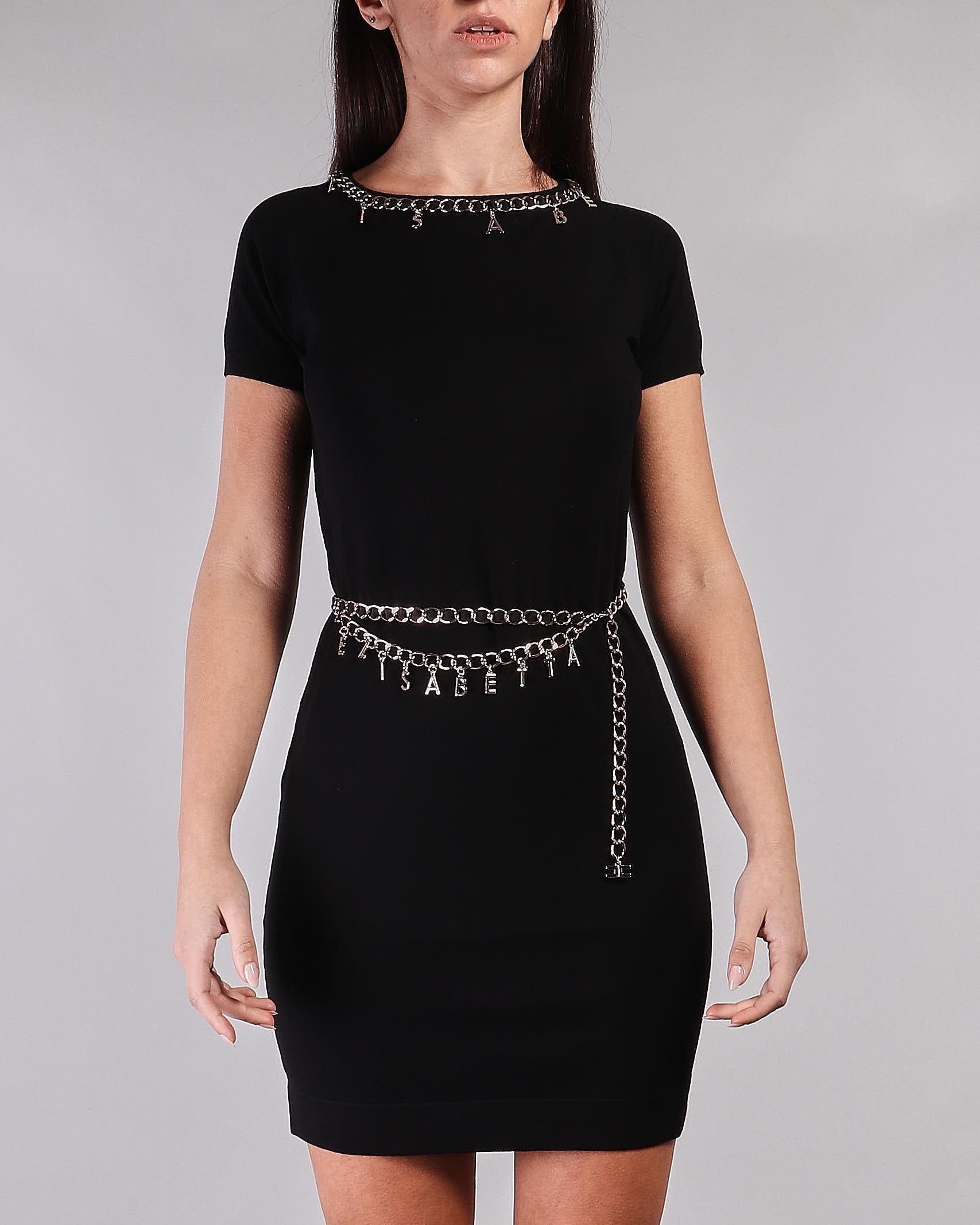 Mini dress con cintura e charms Elisabetta Franchi ELISABETTA FRANCHI | Abito | AM03S11E2110