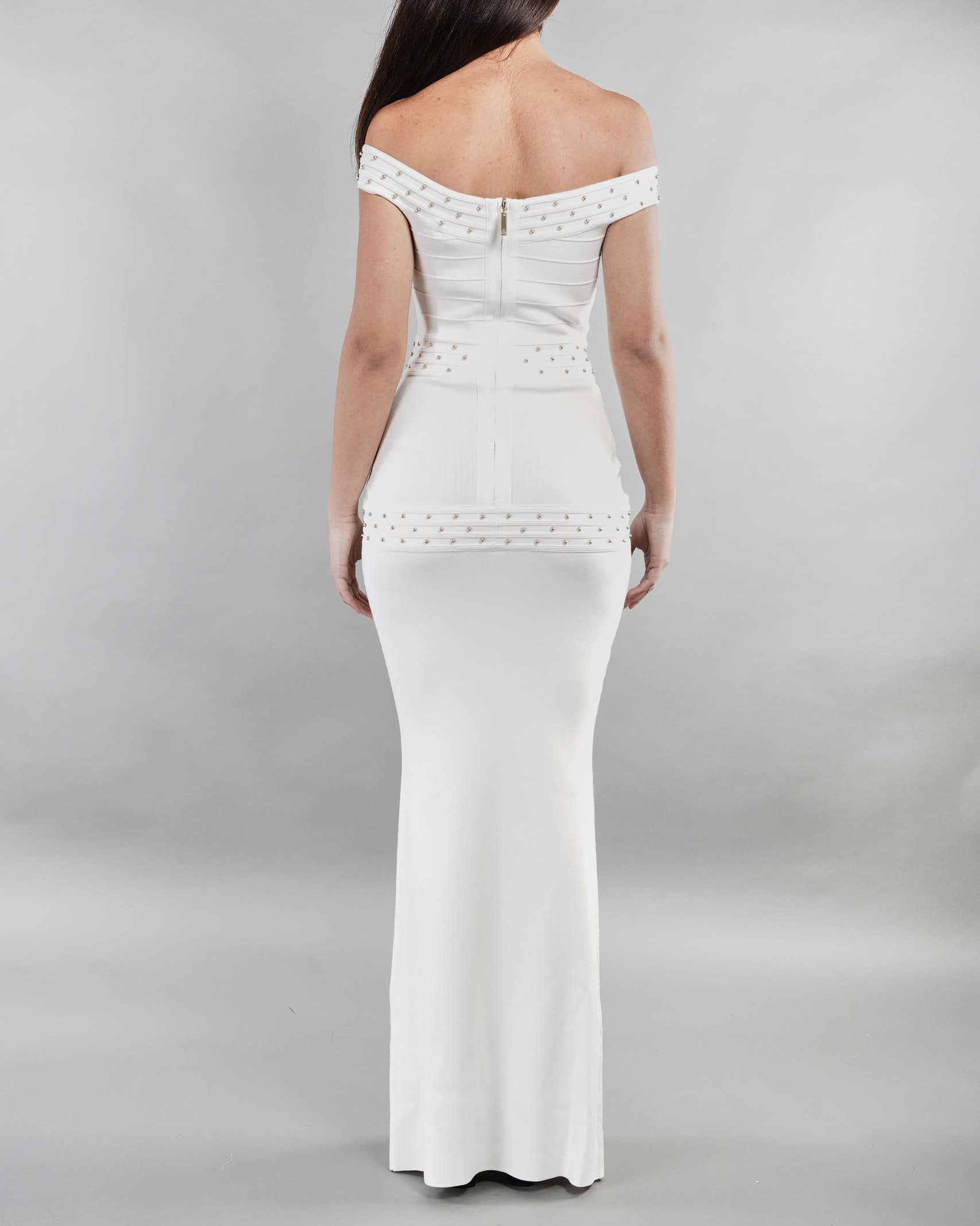 Abito Red Carpet a sirena con borchiette Elisabetta Franchi ELISABETTA FRANCHI | Abito | AM71S11E2360