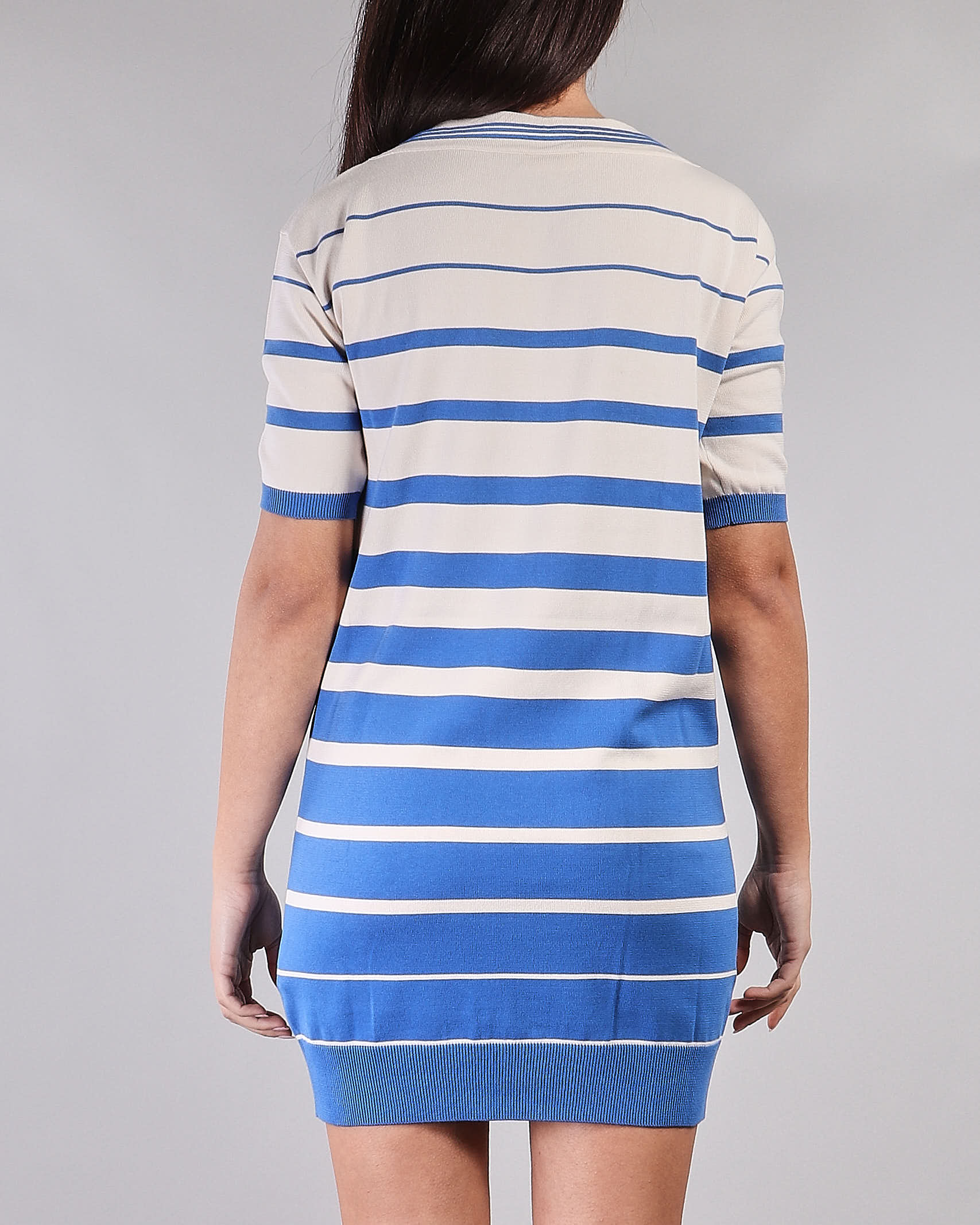 Mini abito a sacchetto a righe degradé Elisabetta Franchi ELISABETTA FRANCHI | Abito | AM92T11E2Q62