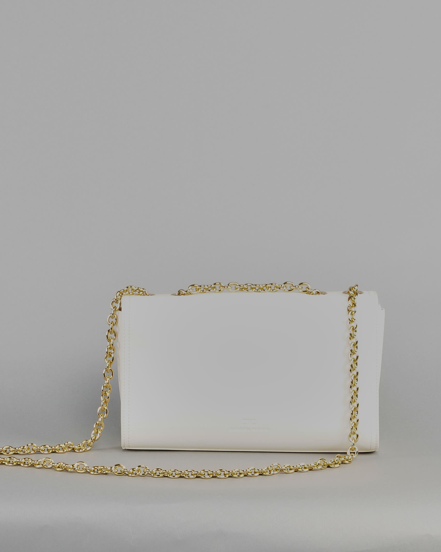 Borsa media con morsetto light gold Elisabetta Franchi ELISABETTA FRANCHI | Borsa | BS08A11E2193