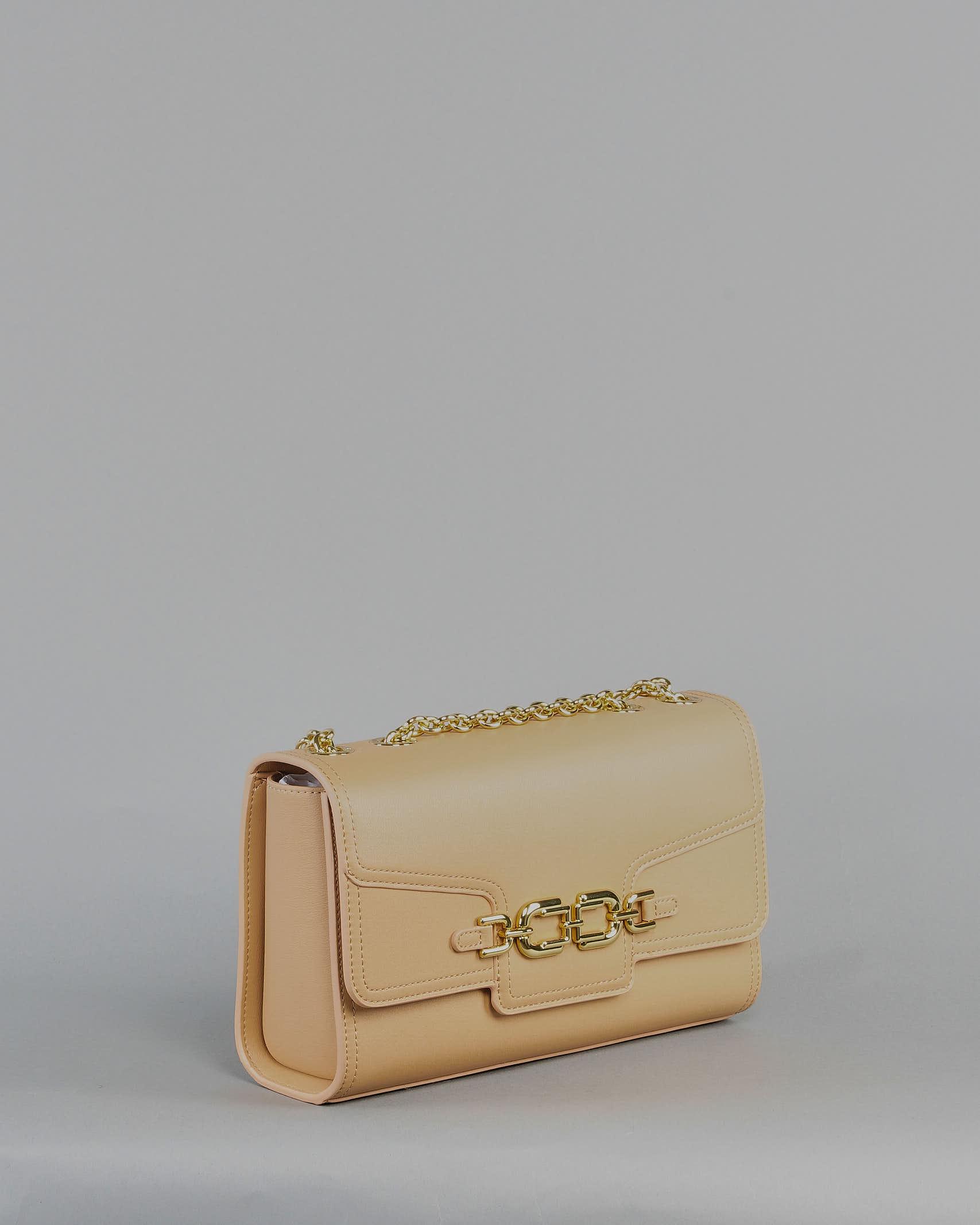 Borsa media con morsetto light gold Elisabetta Franchi ELISABETTA FRANCHI   Borsa   BS08A11E2470