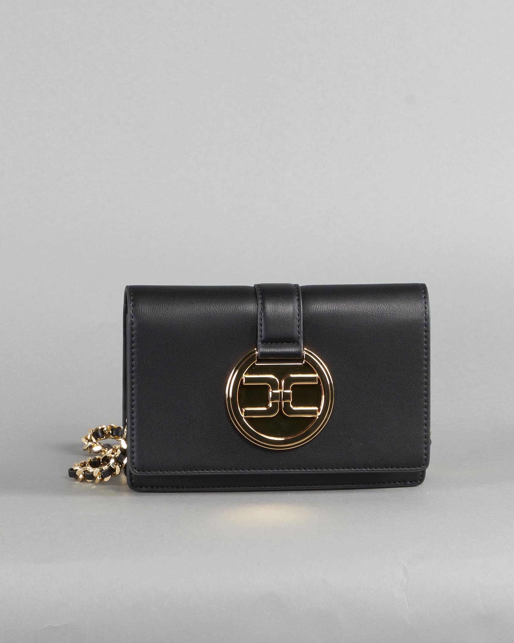 Tracollina con logo light gold Elisabetta Franchi ELISABETTA FRANCHI | Borsa | BS25A11E2110