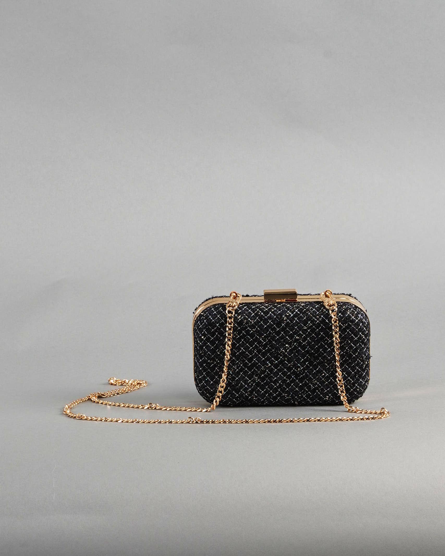 Mini clutch in tweed Elisabetta Franchi ELISABETTA FRANCHI   Borsa   BS37A13E2110