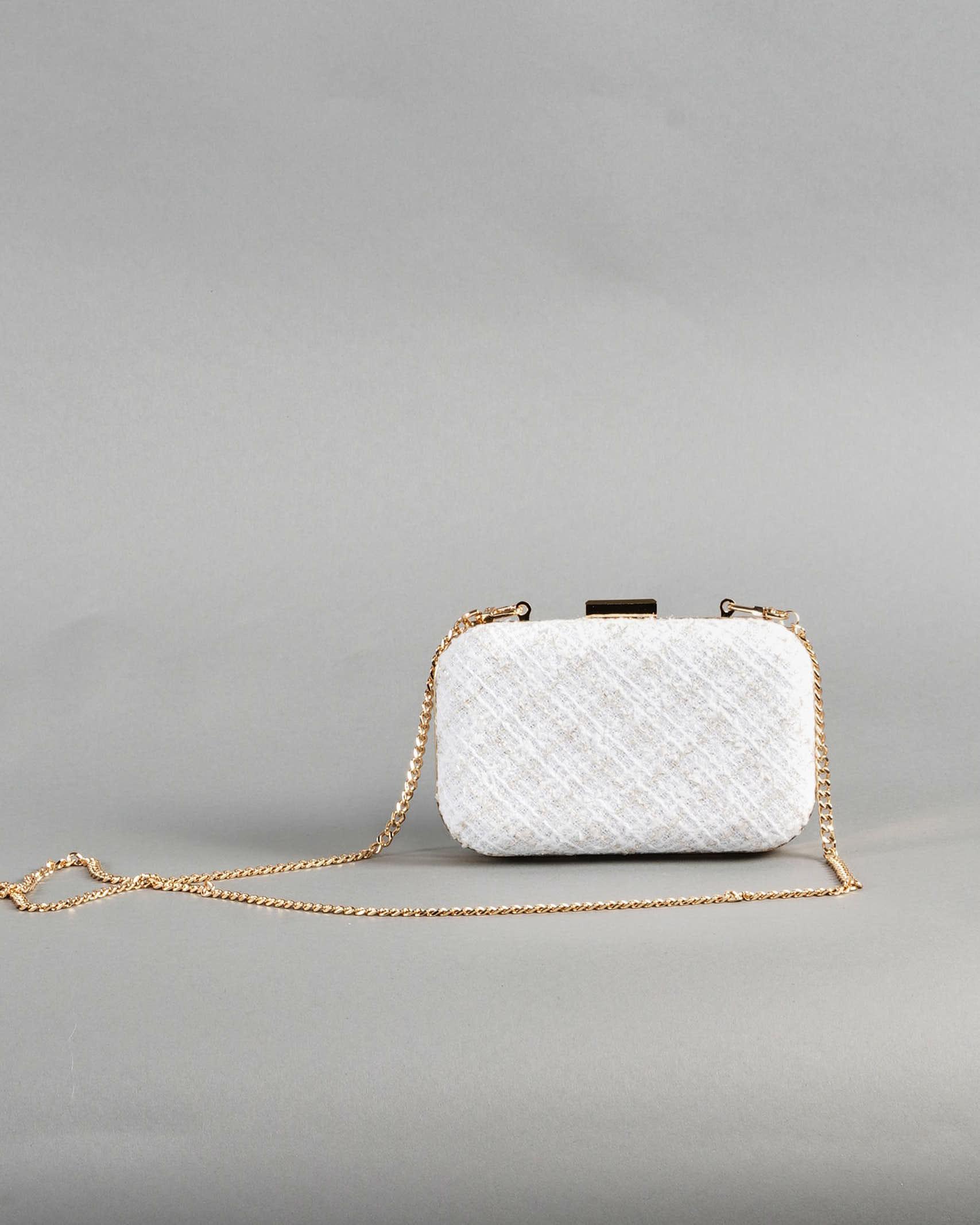 Mini clutch in tweed Elisabetta Franchi ELISABETTA FRANCHI   Borsa   BS37A13E2360