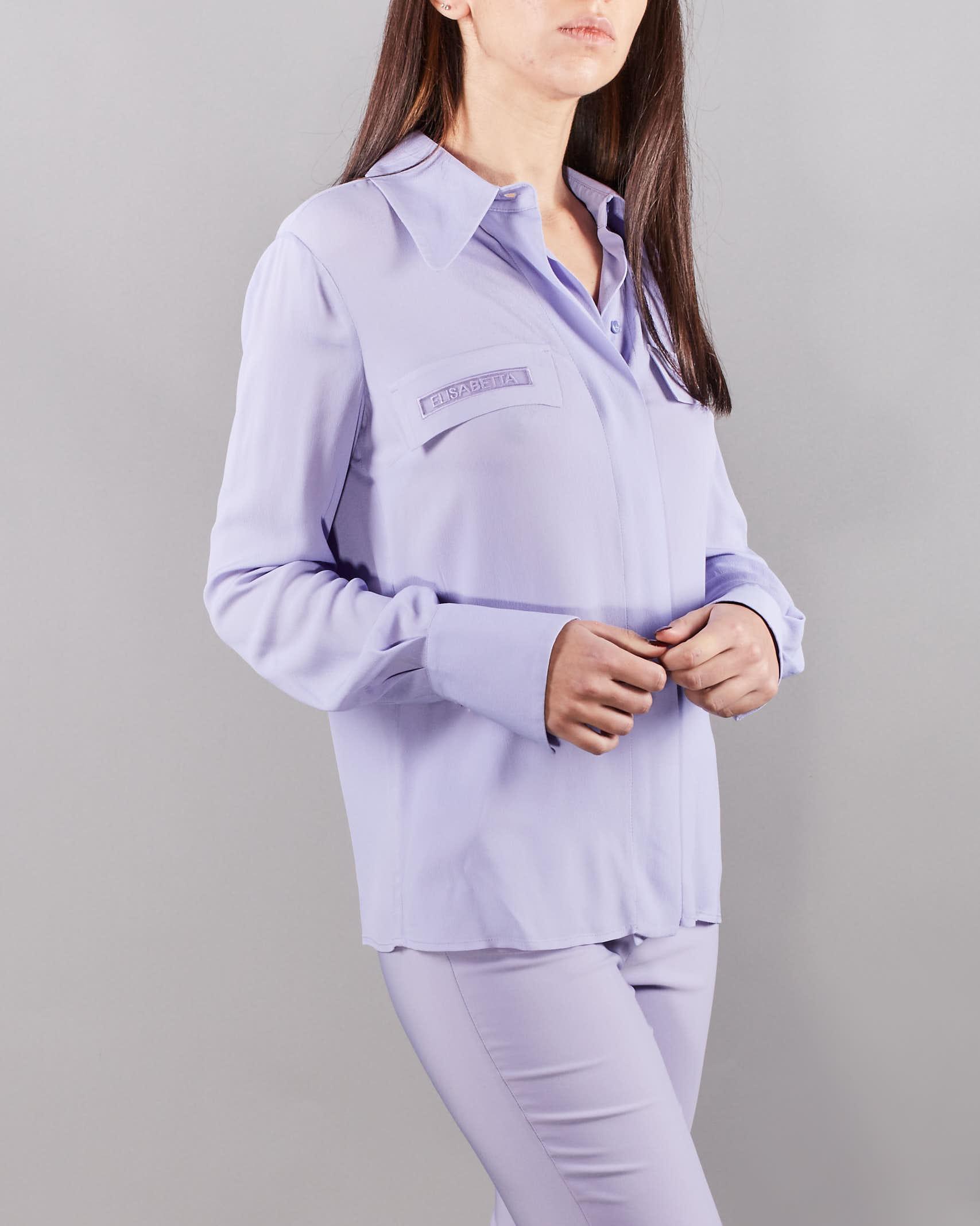 Camicia con ricamo in organza Elisabetta Franchi ELISABETTA FRANCHI   Camicia   CA28111E2Q38