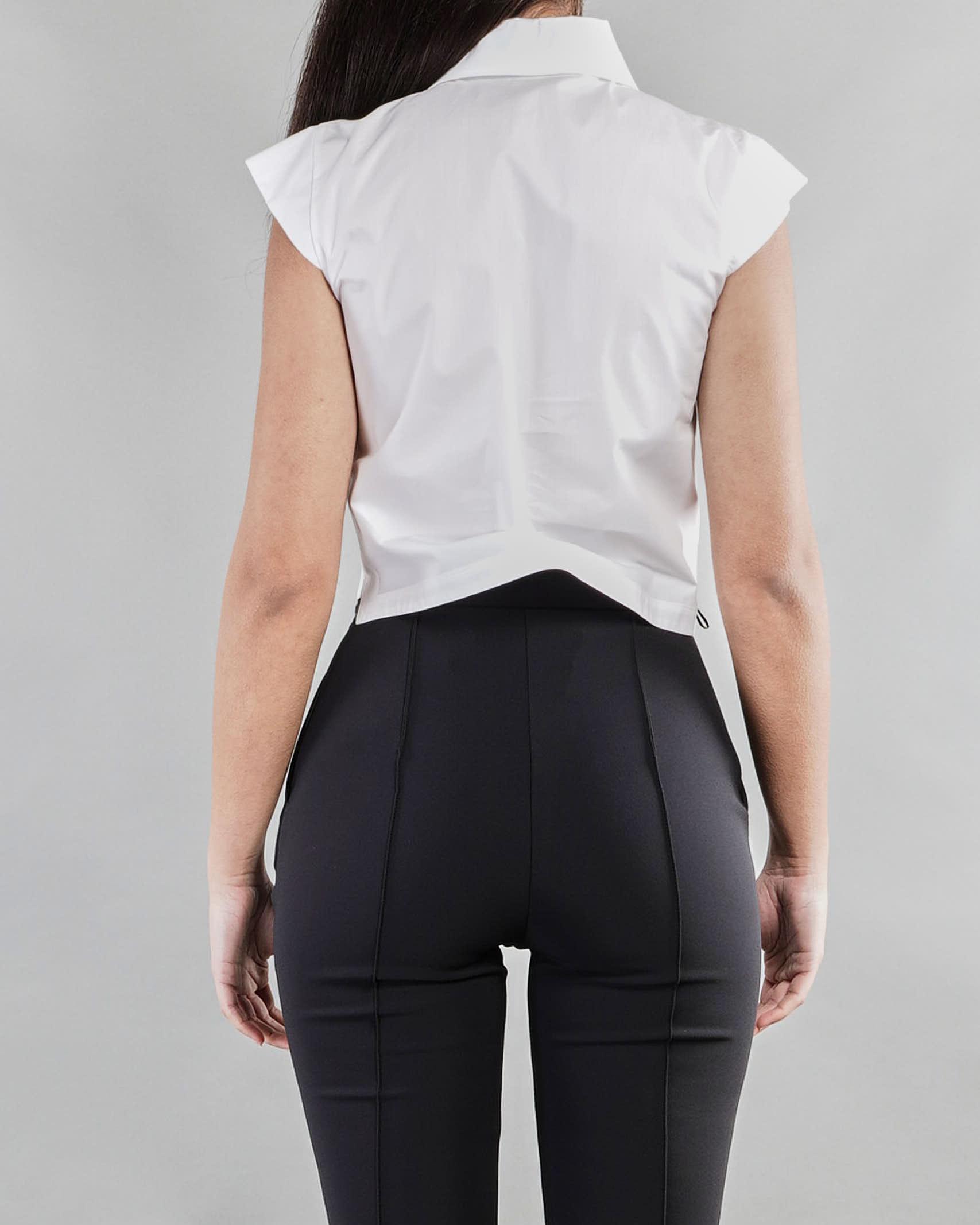 Camicia a manica corta con ricamo Elisabetta Franchi ELISABETTA FRANCHI | Camicia | CA30711E2100