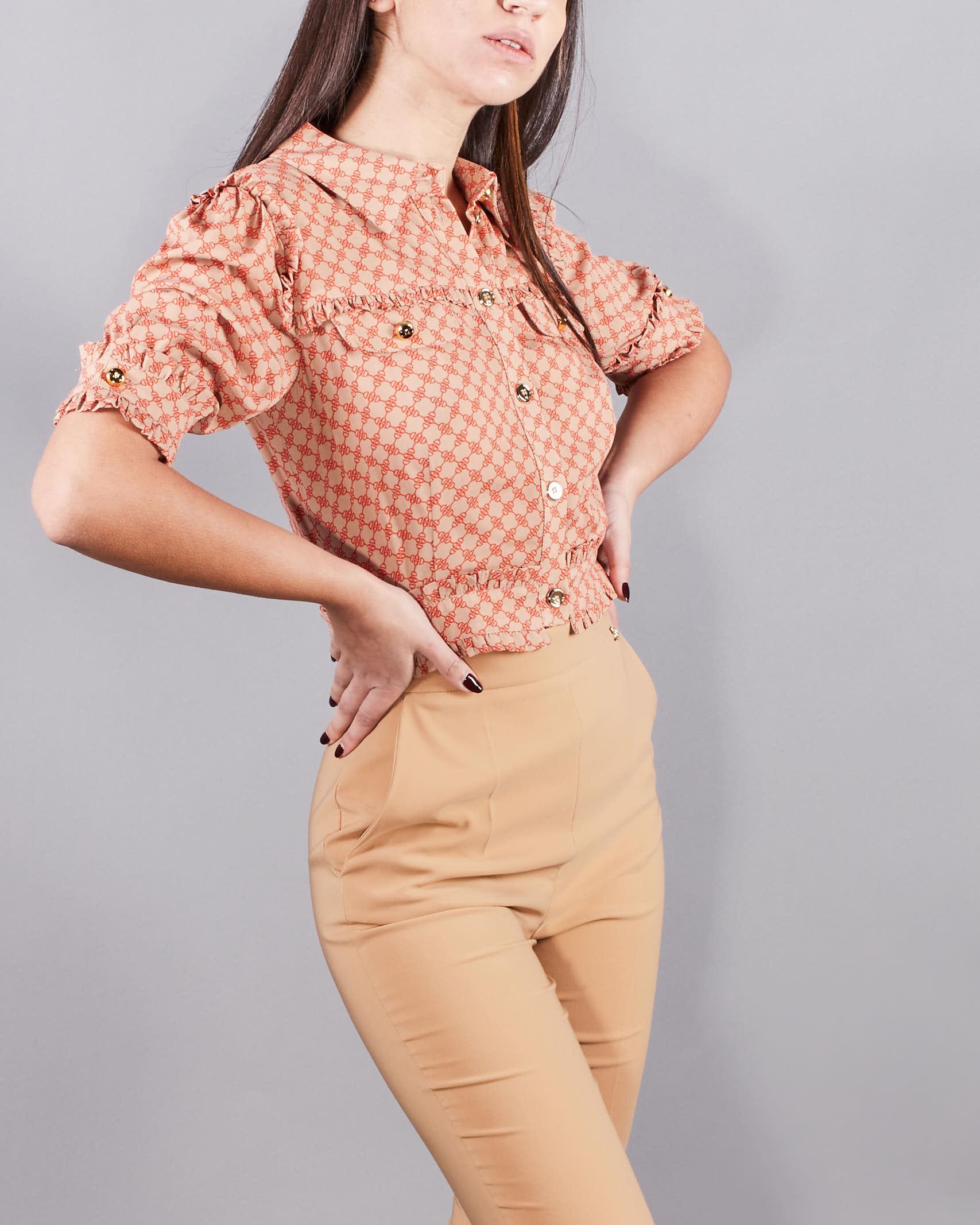 Camicia corta stampa morsetto Elisabetta Franchi ELISABETTA FRANCHI | Camicia | CA32211E2N97