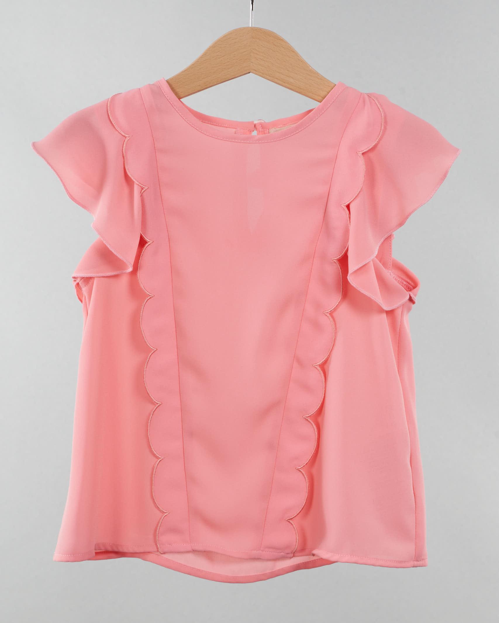 Camicia con rouches Elisabetta Franchi La Mia Bambina ELISABETTA FRANCHI LA MIA BAMBINA | Camicia | CA87GA3576