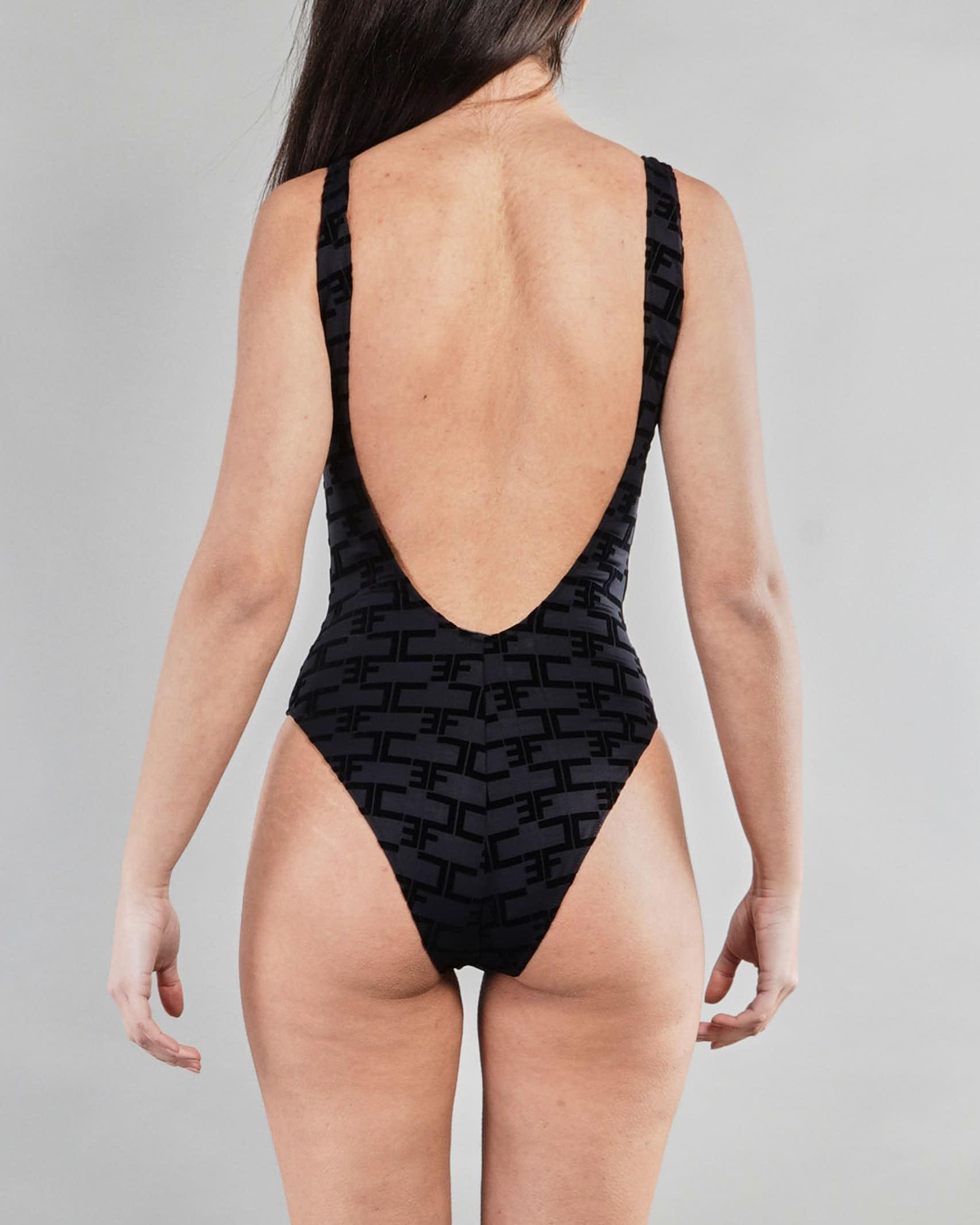 Bikini intero con stampa monogram Elisabetta Franchi ELISABETTA FRANCHI   Costume   CS22B11E2110