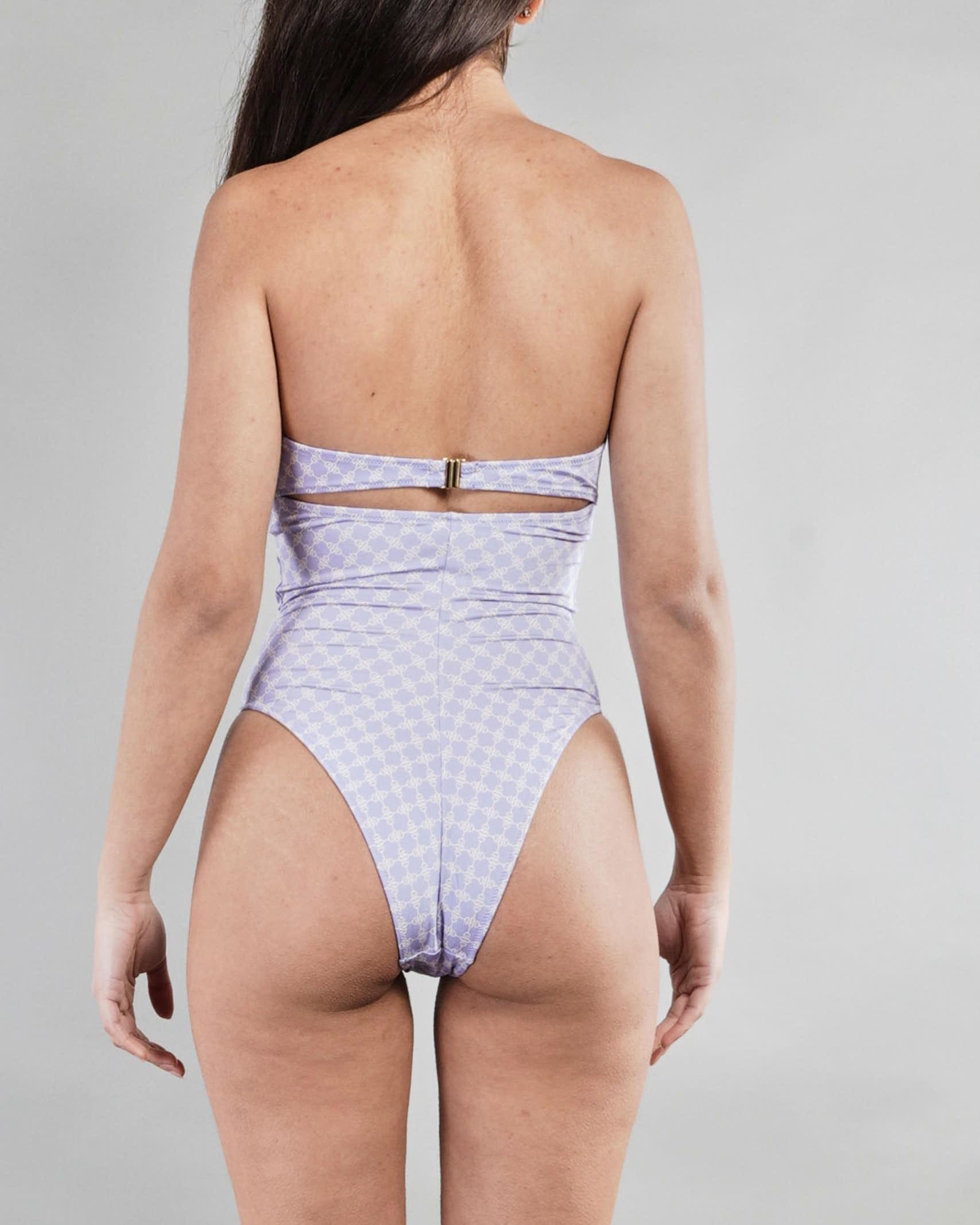 Bikini intero con stampa morsetto Elisabetta Franchi ELISABETTA FRANCHI   Costume   CS40B11E2Q45
