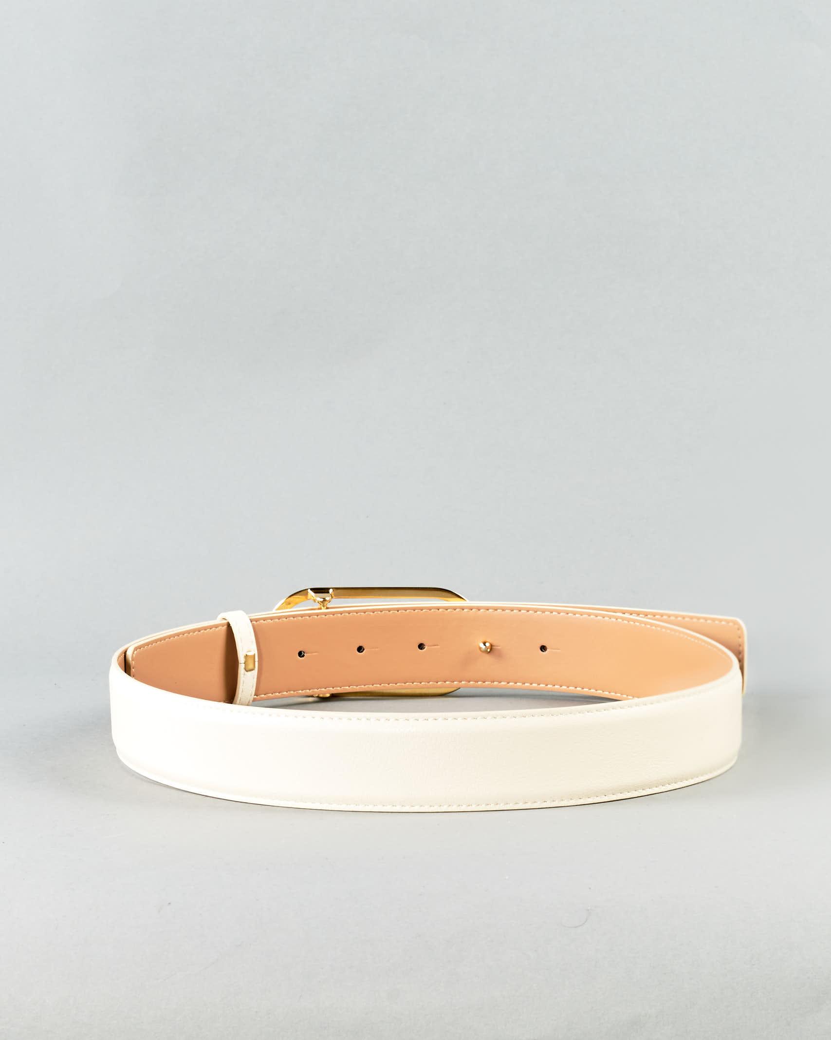 Cintura con logo light gold Elisabetta Franchi ELISABETTA FRANCHI | Cintura | CT03S11E2193