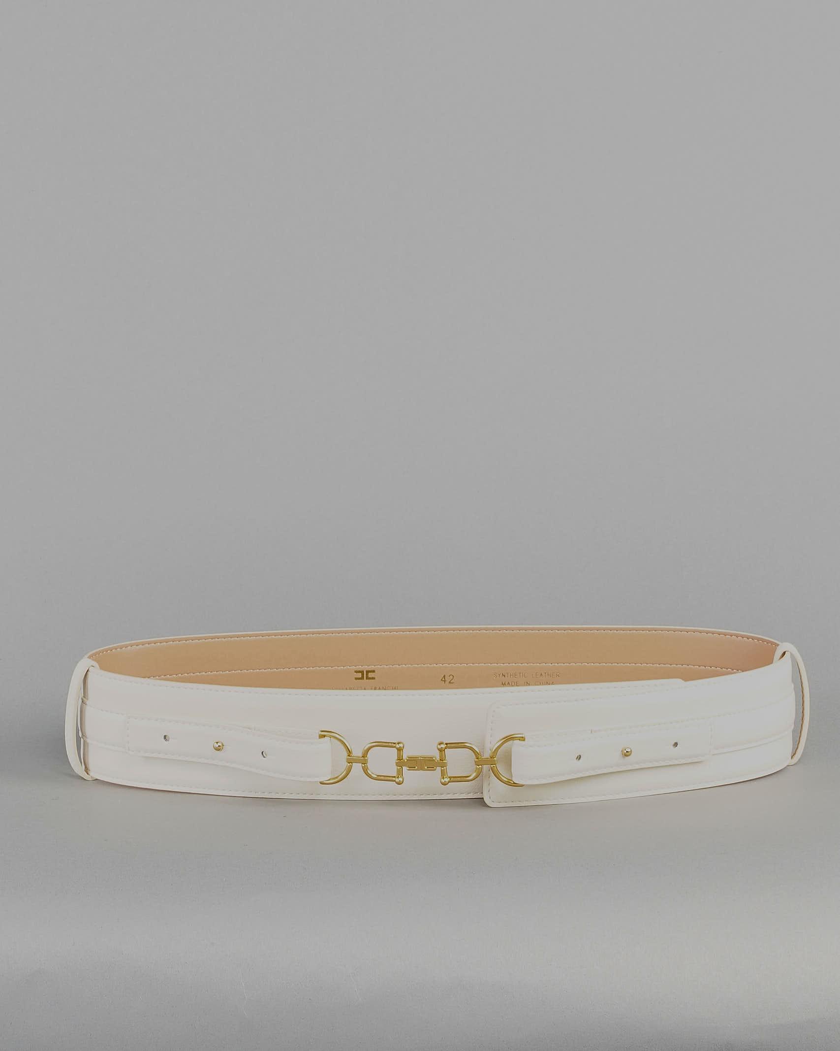 Cintura a vita alta con morsetto light gold Elisabetta Franchi ELISABETTA FRANCHI | Cintura | CT04S11E2193
