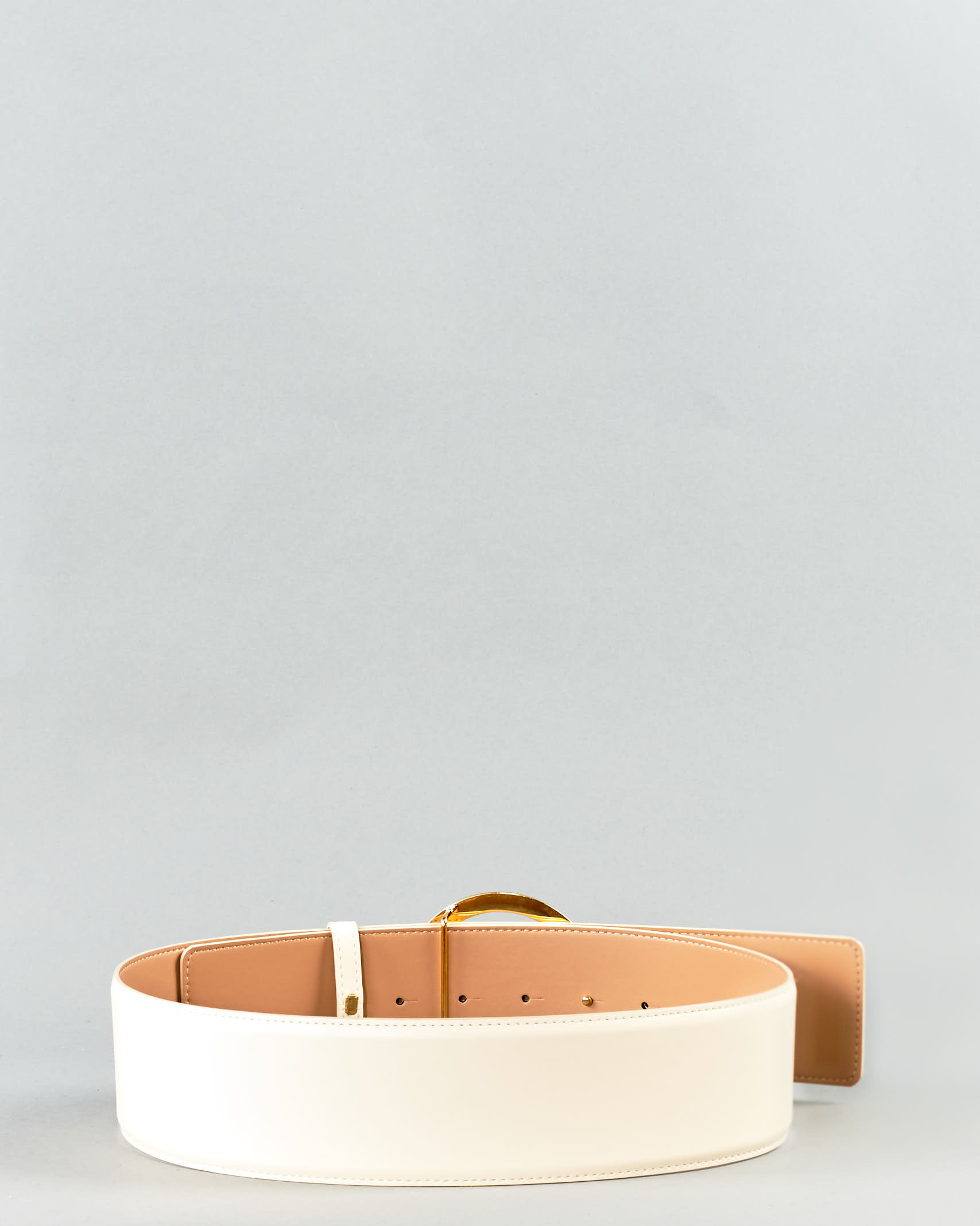 Cintura a vita alta con logo gold Elisabetta Franchi ELISABETTA FRANCHI | Cintura | CT11S11E2193