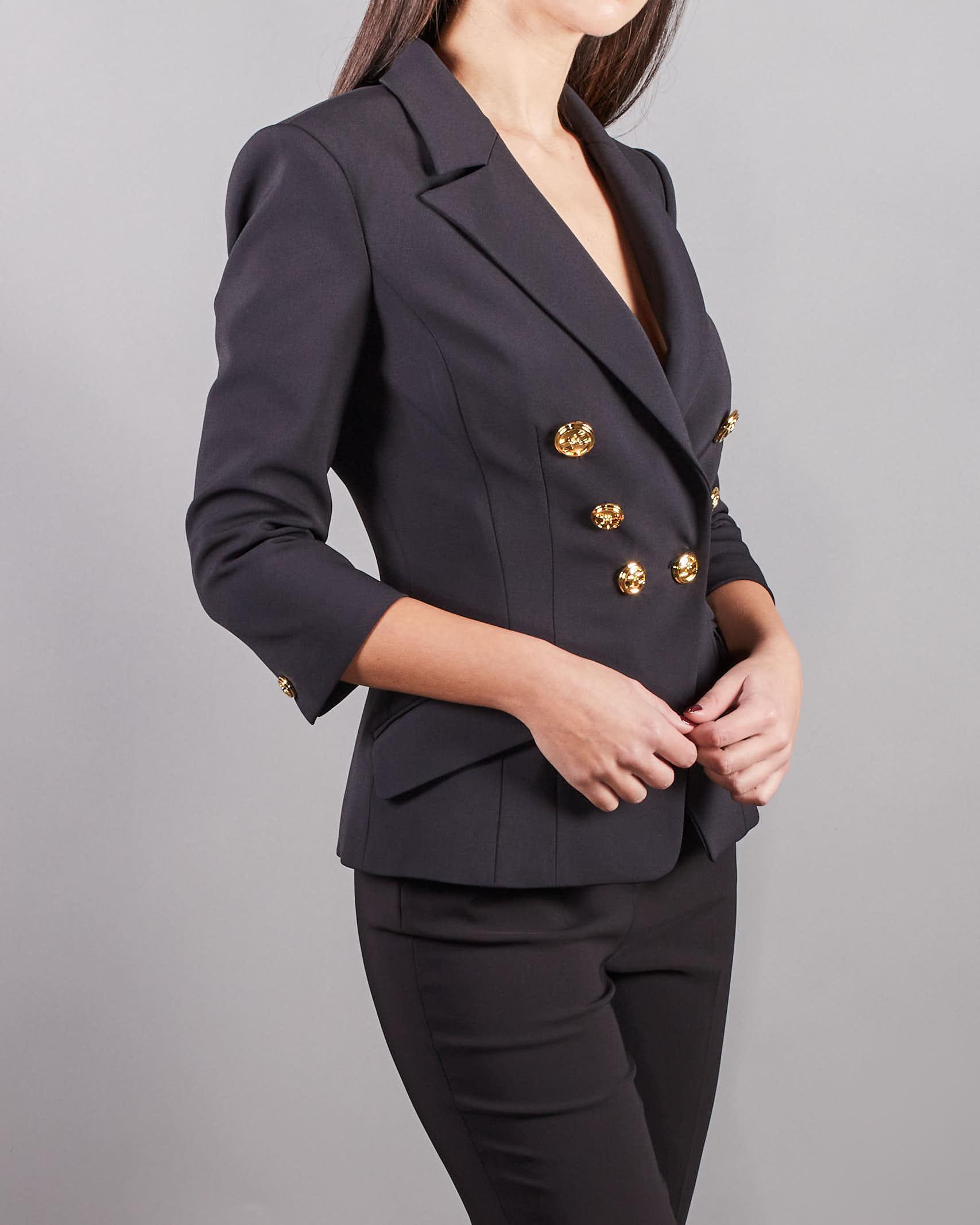 Giacca corta con bottoni oro light Elisabetta Franchi ELISABETTA FRANCHI | Giacca | GI97011E2110