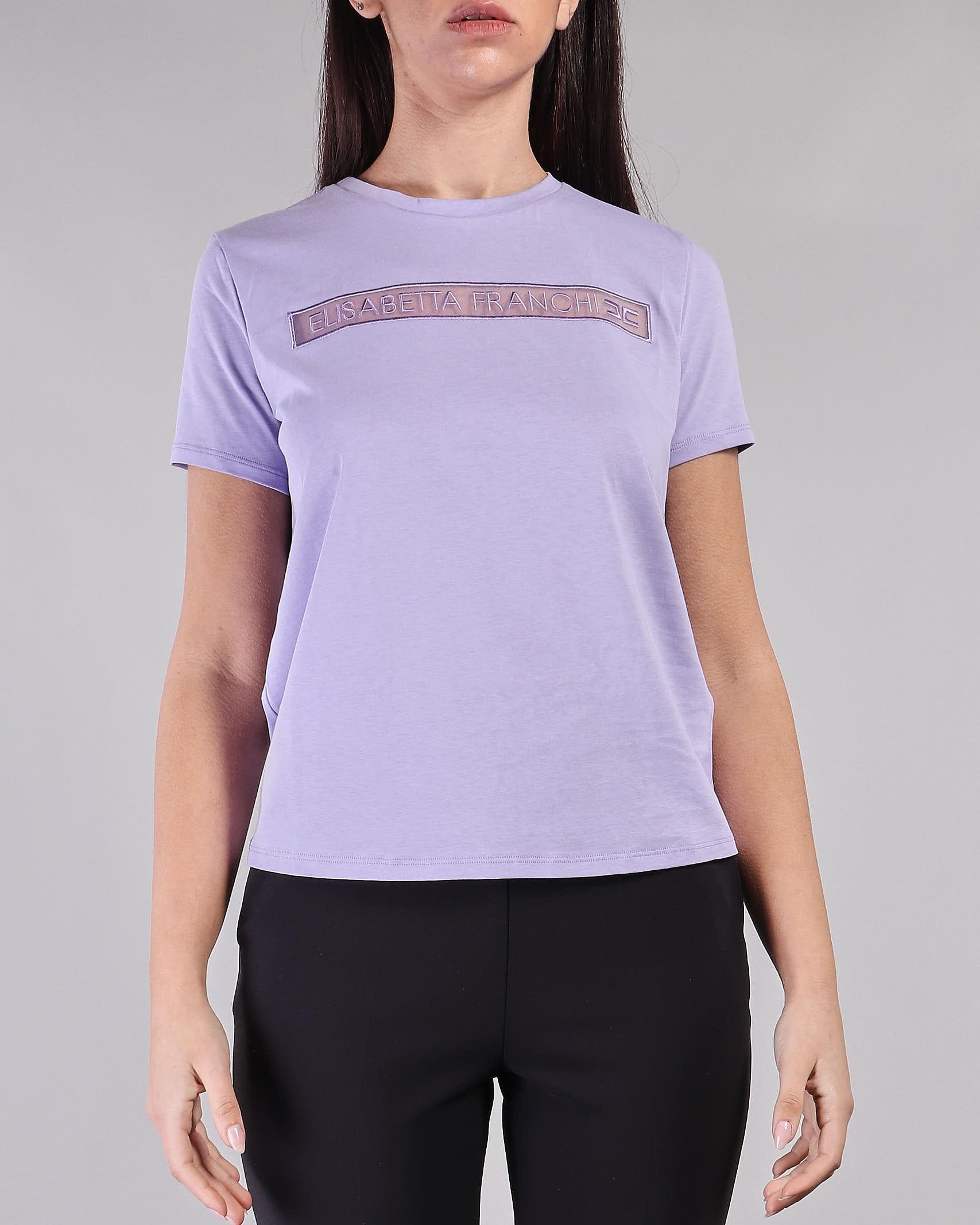 T-shirt con logo ricamato Elisabetta Franchi ELISABETTA FRANCHI | Maglia | MA18411E2Q38