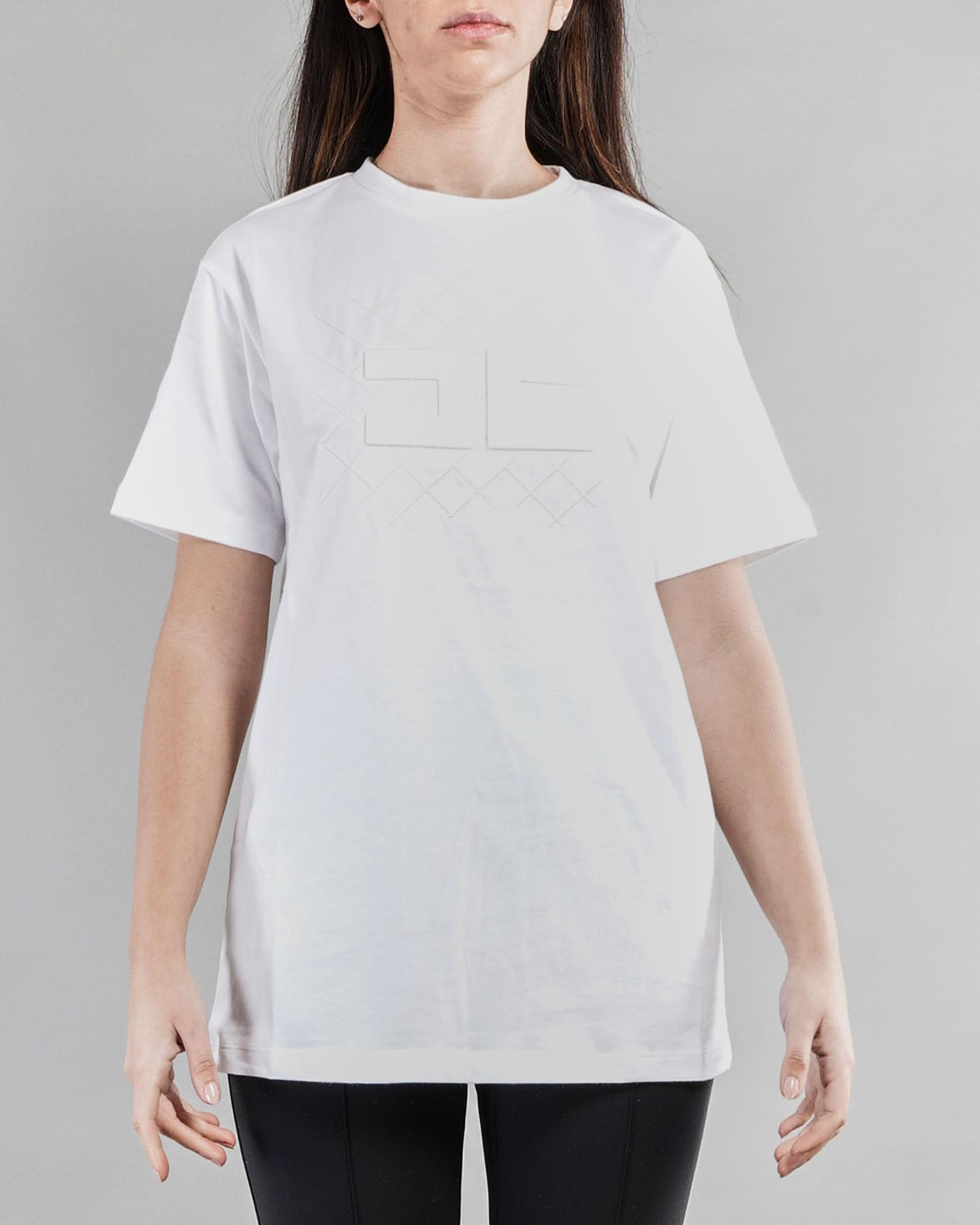 T-shirt lungo con logo in tono Elisabetta Franchi ELISABETTA FRANCHI | T-shirt | MA19611E2270