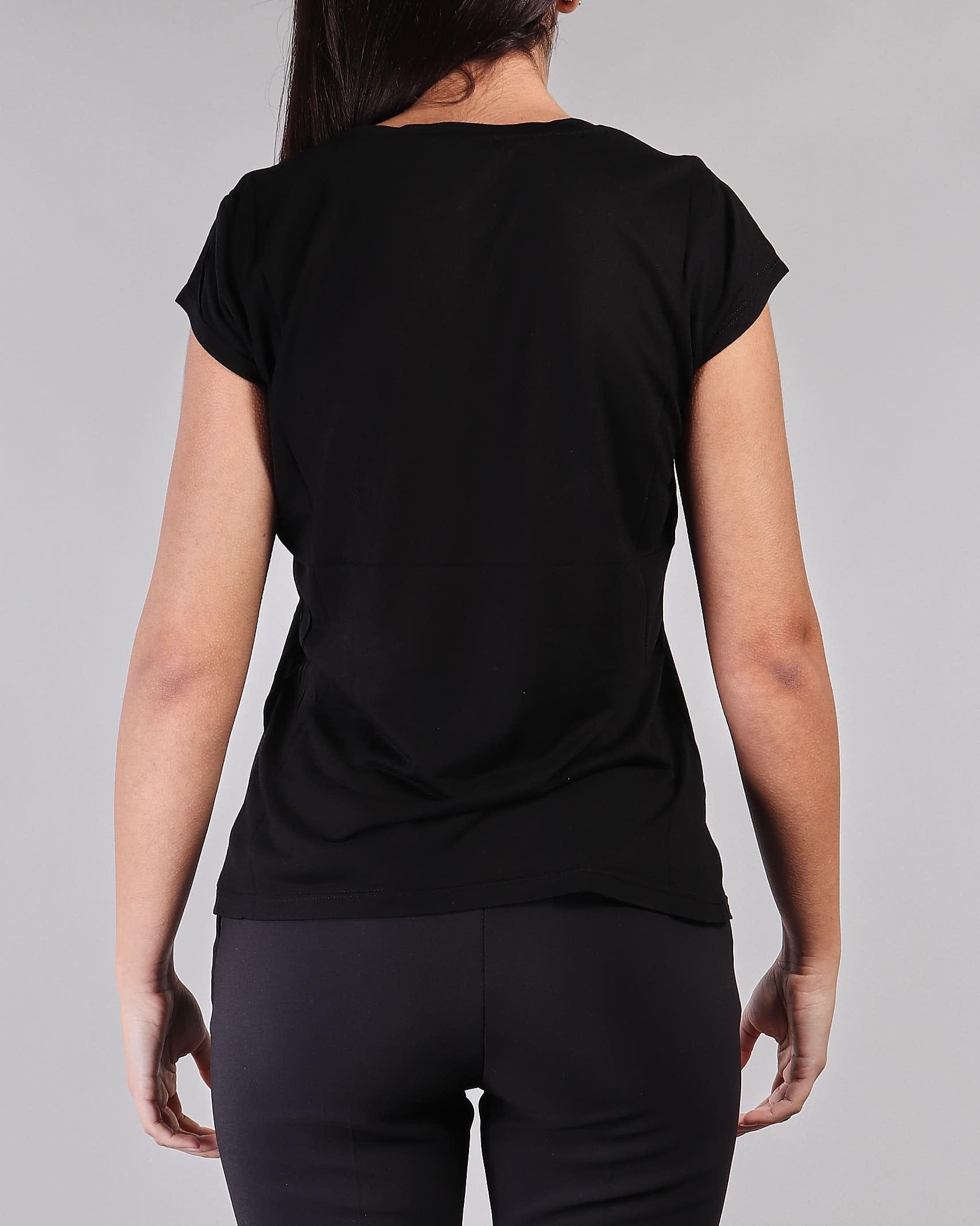 T-shirt manica corta con logo e micro catene Elisabetta Franchi ELISABETTA FRANCHI | T-shirt | MA19711E2110