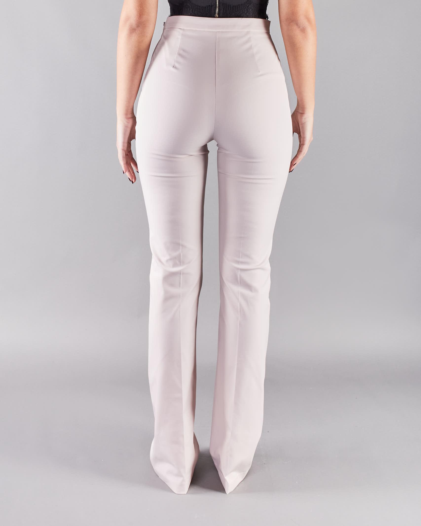 Pantalone in ottoman con morsetti Elisabetta Franchi ELISABETTA FRANCHI   Pantalone   PA37611E2686