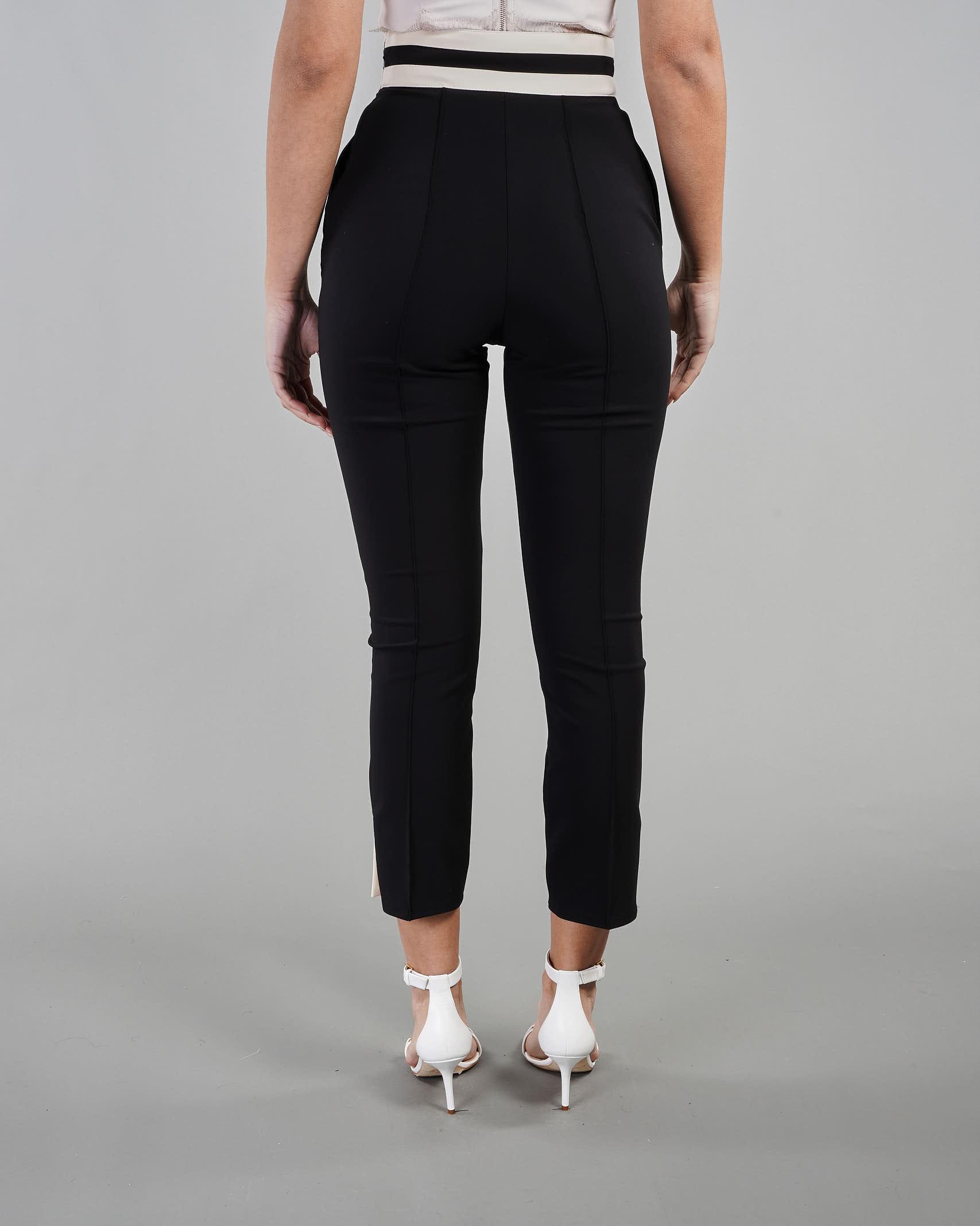 Pantalone skinny bicolor con accessorio morsetto Elisabetta Franchi ELISABETTA FRANCHI | Pantalone | PA37711E2685