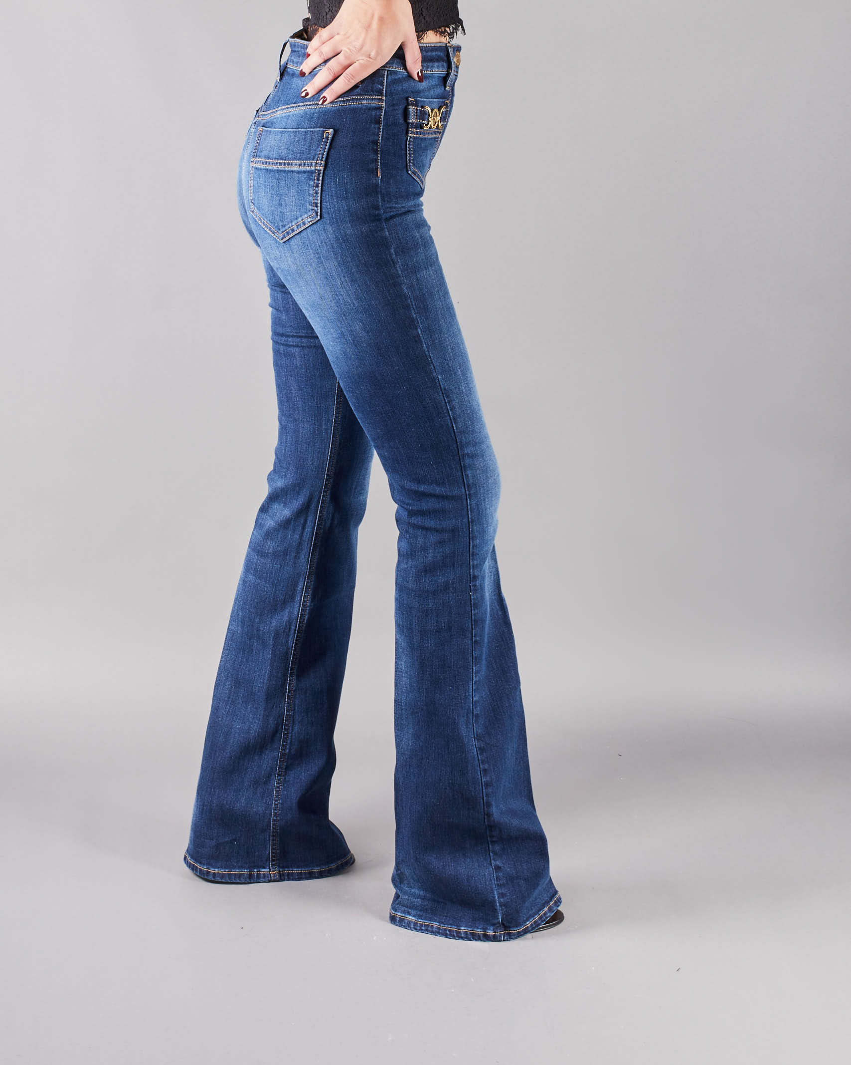 Jeans a zampa Elisabetta Franchi ELISABETTA FRANCHI | Jeans | PJ96S11E2192