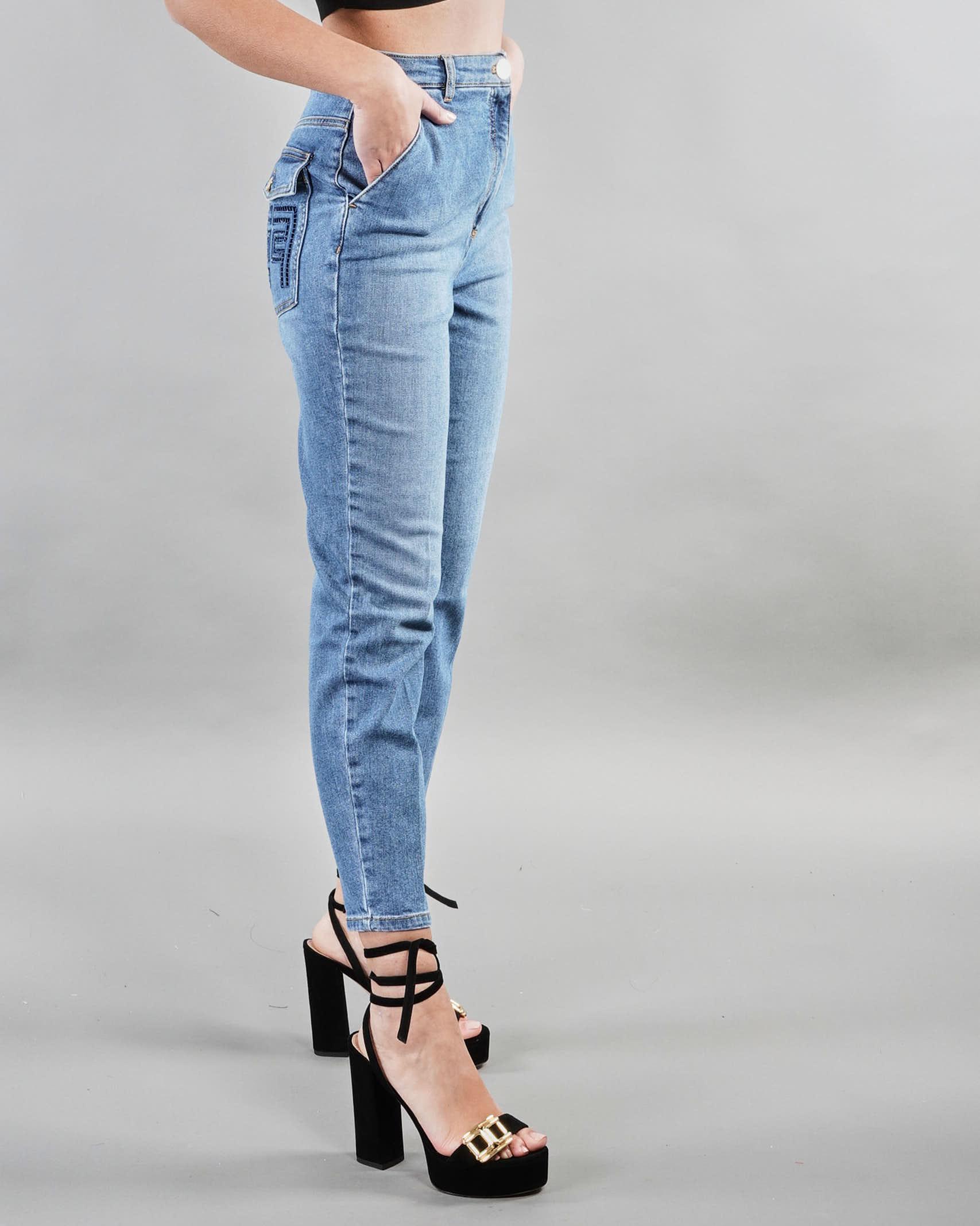 Jeans con ricamo sul retro Elisabetta Franchi ELISABETTA FRANCHI   Jeans   PJ98D11E2192