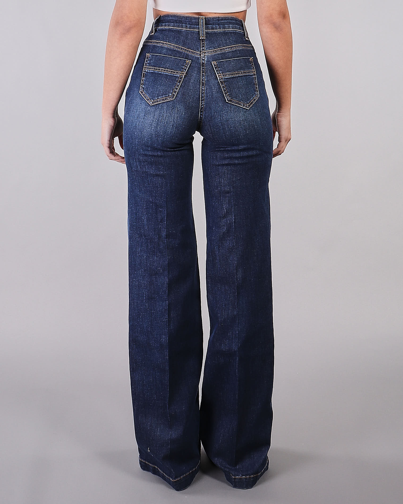 Jeans a palazzo Elisabetta Franchi ELISABETTA FRANCHI | Jeans | PJ99D11E2104