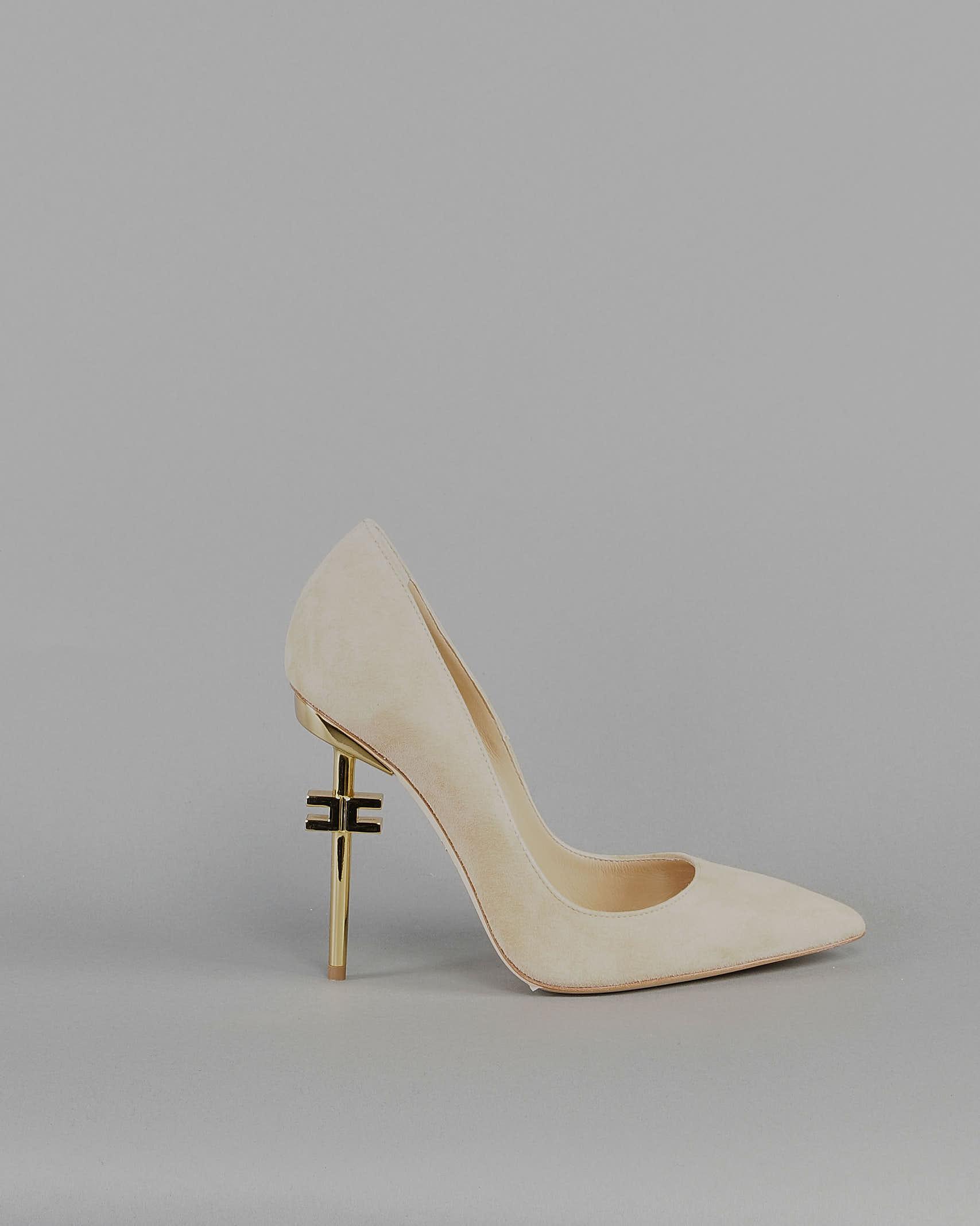 Scarpa pump in camoscio con logo Elisabetta Franchi ELISABETTA FRANCHI | Scarpa con tacco | SA90B11E2470