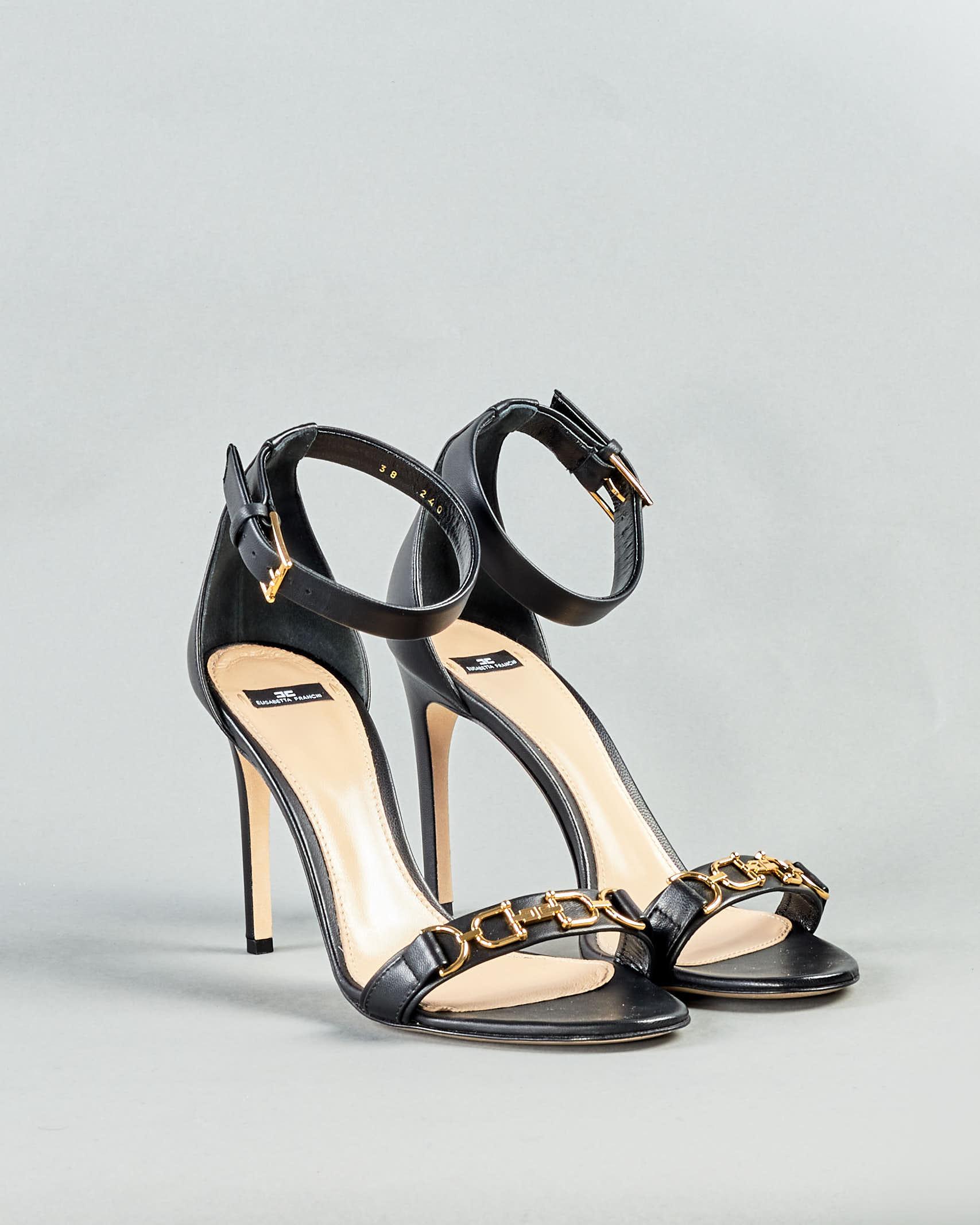 Sandalo con logo Elisabetta Franchi ELISABETTA FRANCHI   Sandali   SA97L11E2110