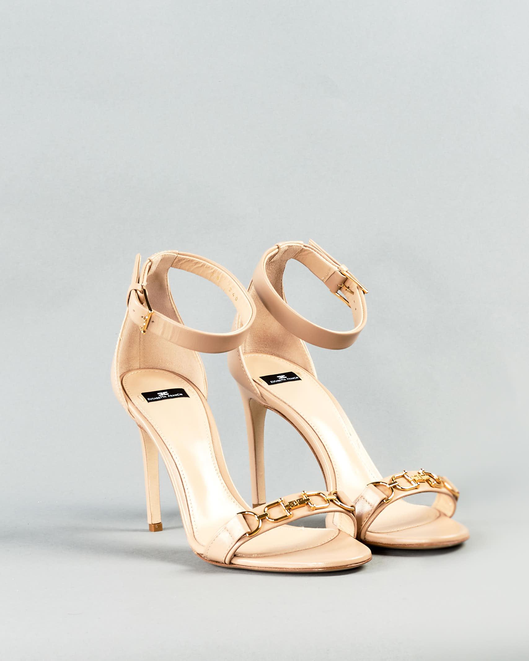 Sandalo con logo Elisabetta Franchi ELISABETTA FRANCHI | Sandali | SA97L11E2470