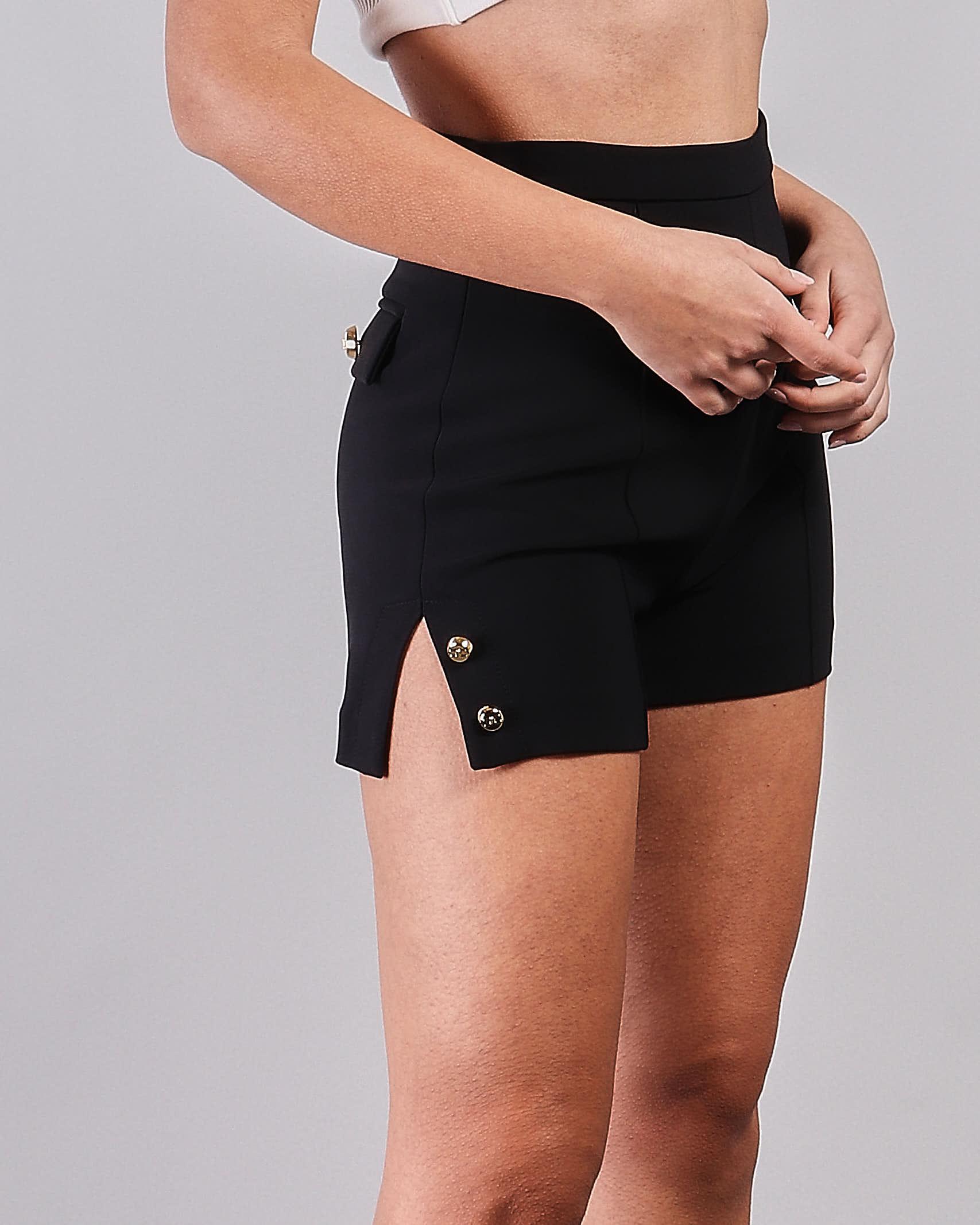 Shorts a vita alta con spacchi laterali Elisabetta Franchi ELISABETTA FRANCHI | Shorts | SH00211E2110