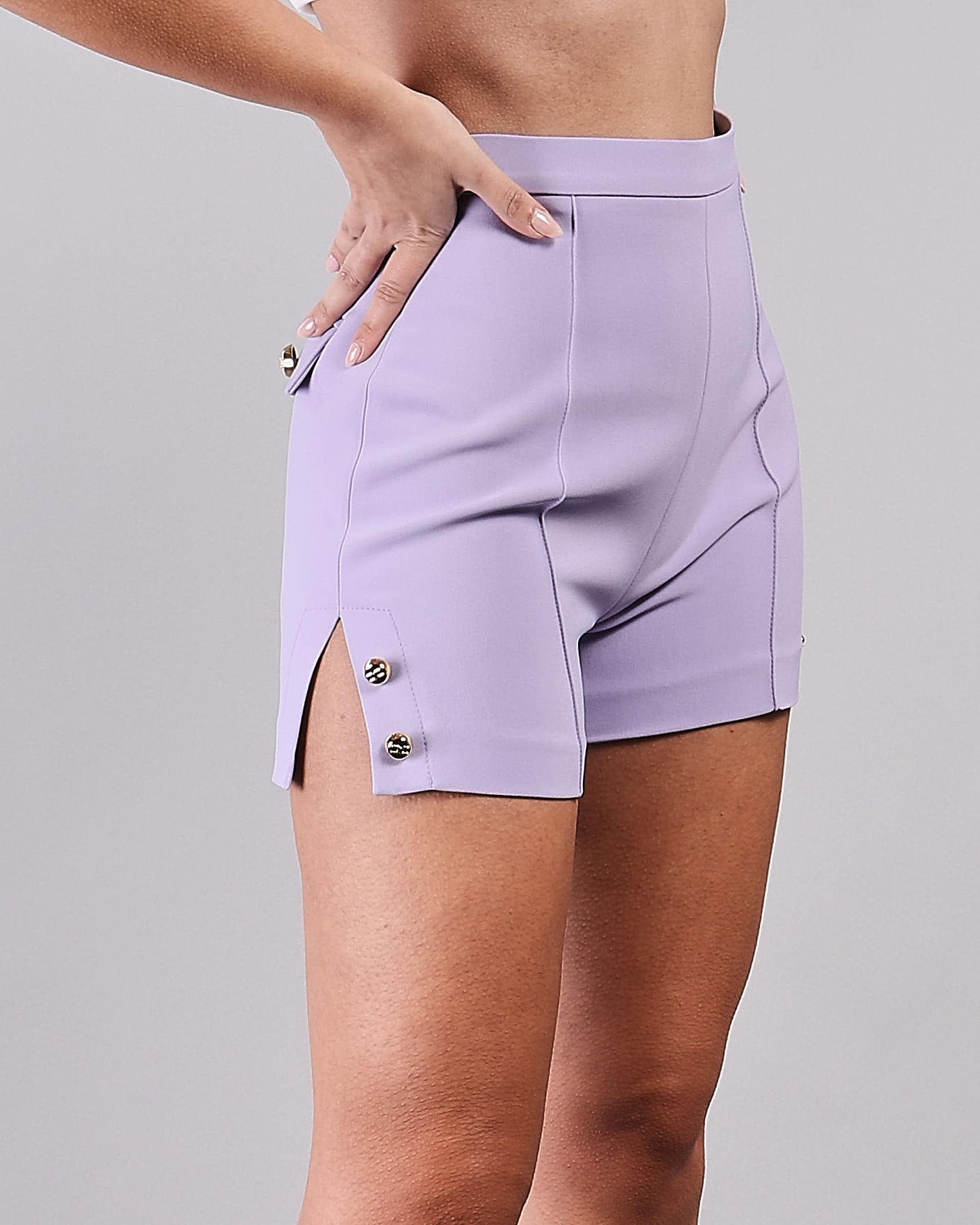Shorts a vita alta con spacchi laterali Elisabetta Franchi ELISABETTA FRANCHI | Shorts | SH00211E2Q38