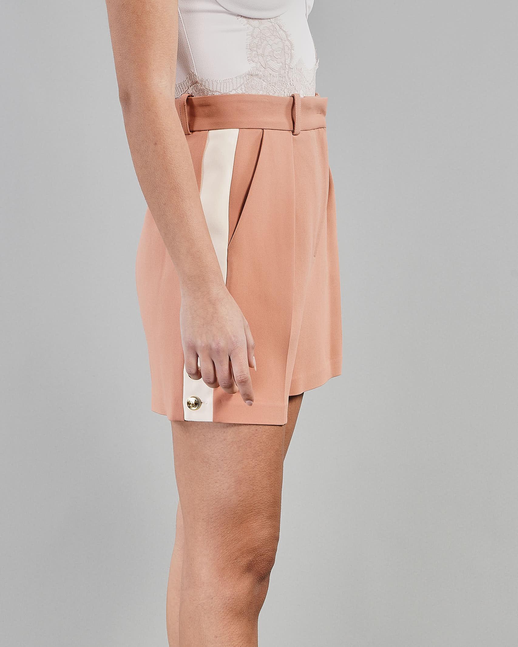 Shorts bicolor a vita alta Elisabetta Franchi ELISABETTA FRANCHI | Shorts | SH00413E2W77