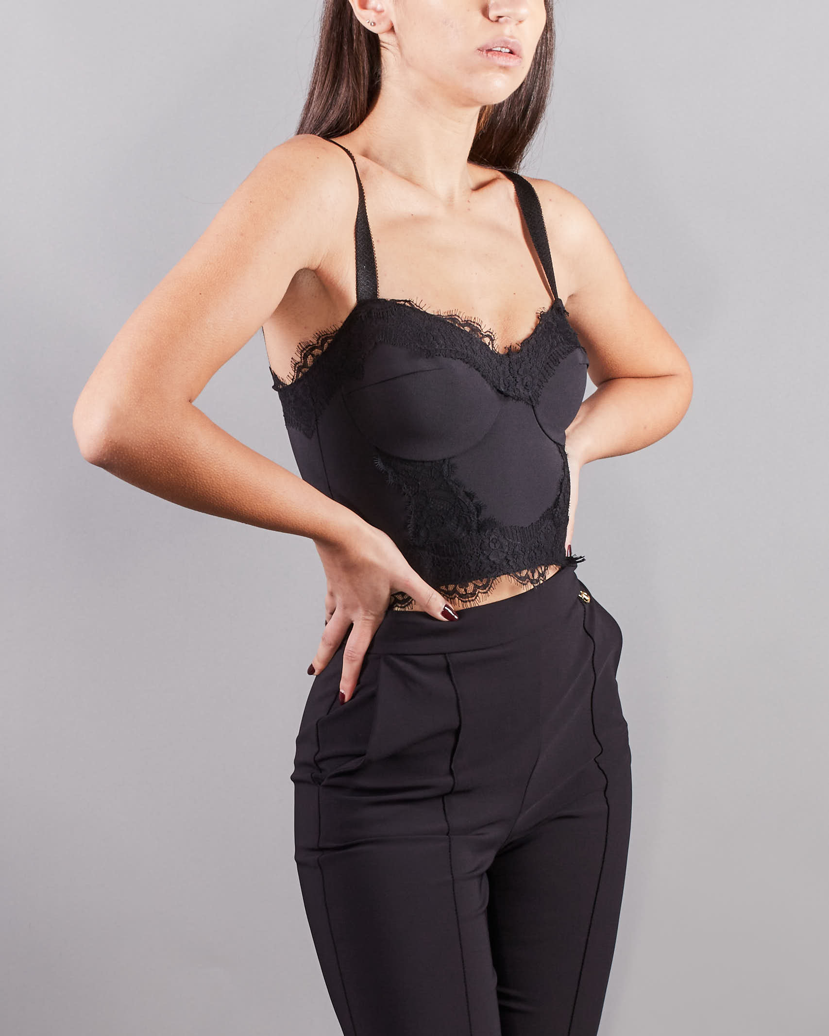 Top corsetto in pizzo Elisabetta Franchi ELISABETTA FRANCHI   Top   TO02311E2110