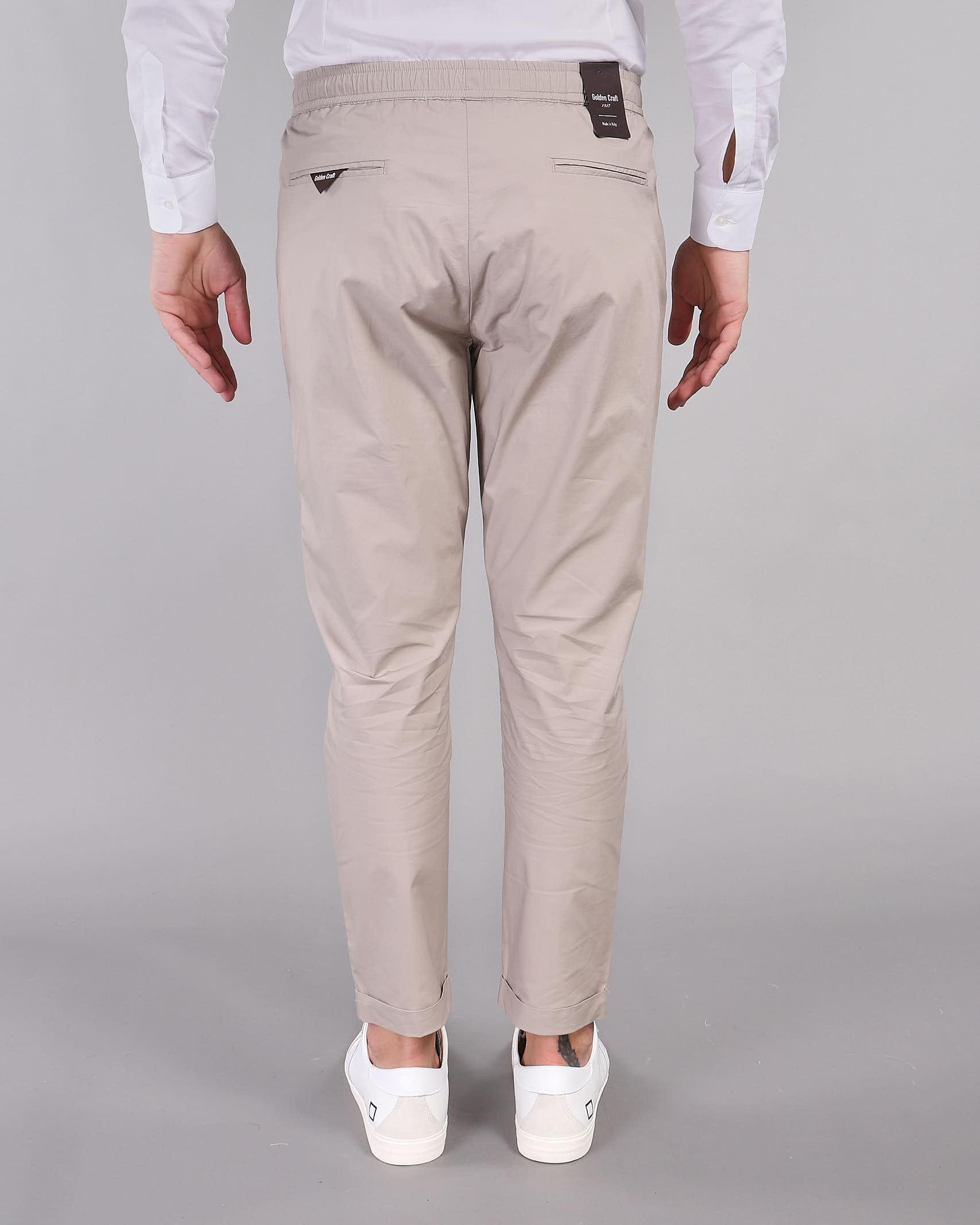 Pantalone in cotone con elastico in vita Golden Craft GOLDEN CRAFT | Pantalone | GC1PSS215902A028