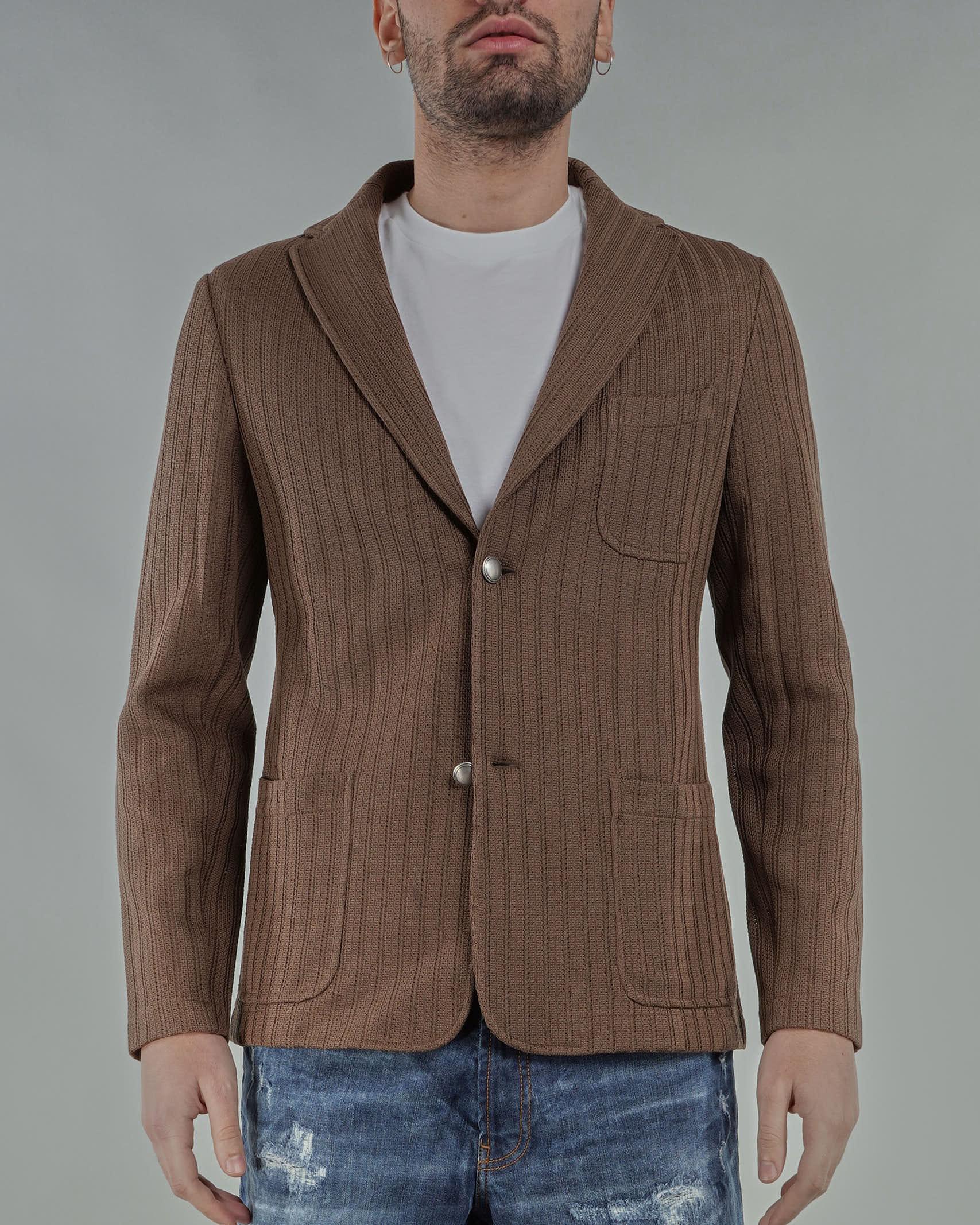 Giacca in maglia motivo righe microforata Jeordie's JEORDIE'S | Giacca | 77130318