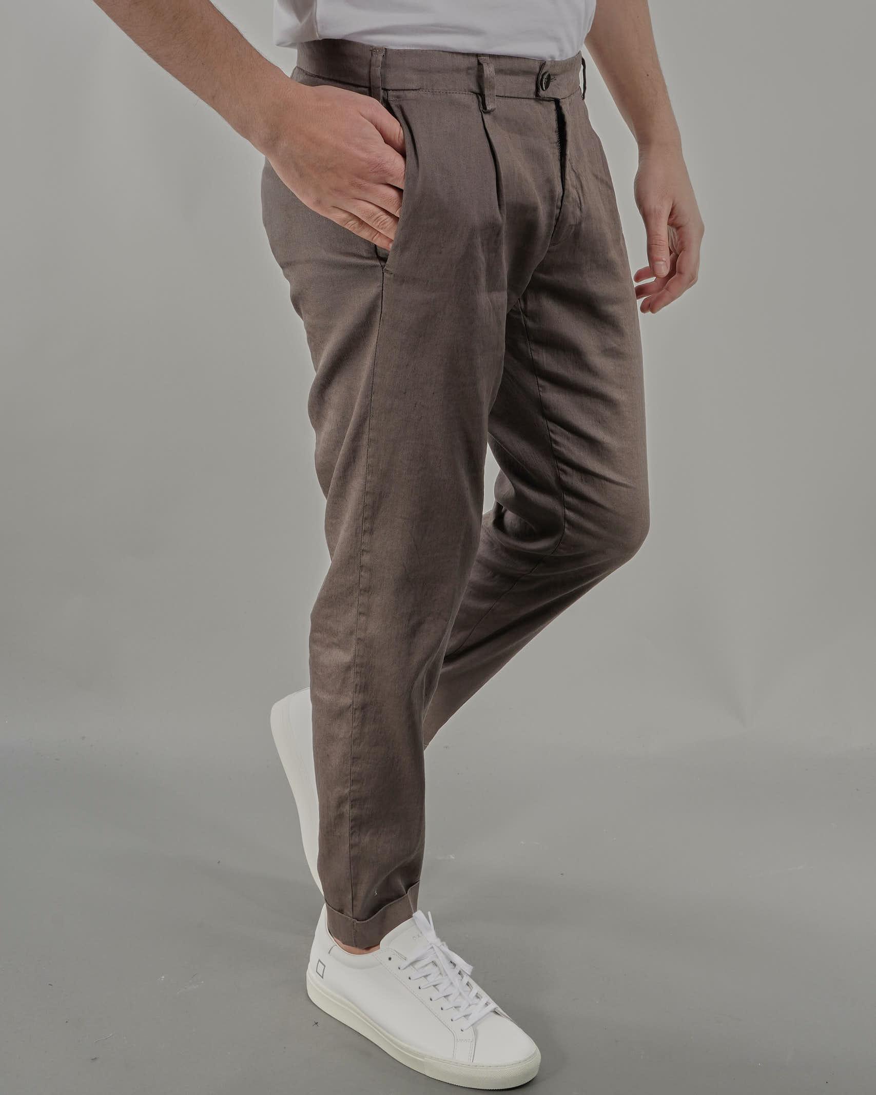 Pantalone in lino con pences Jeordie's JEORDIE'S | Pantalone | 77202356