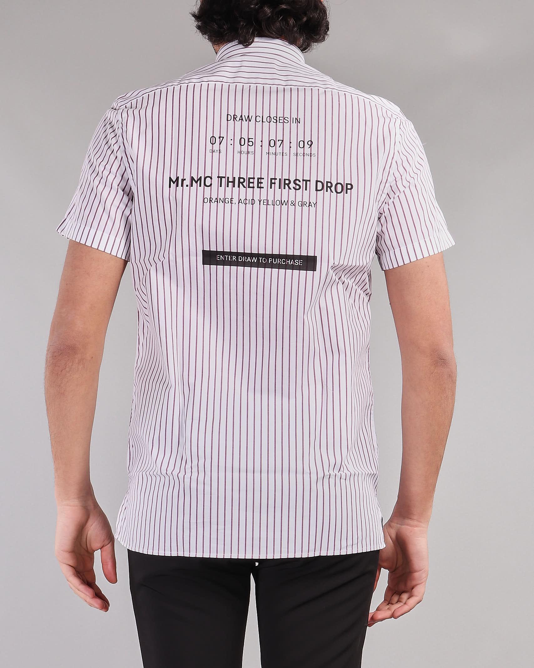 Camicia con mezza abbottonatura e stampa sul retro Low Brand LOW BRAND | Camicia | L1CSS215750Z061