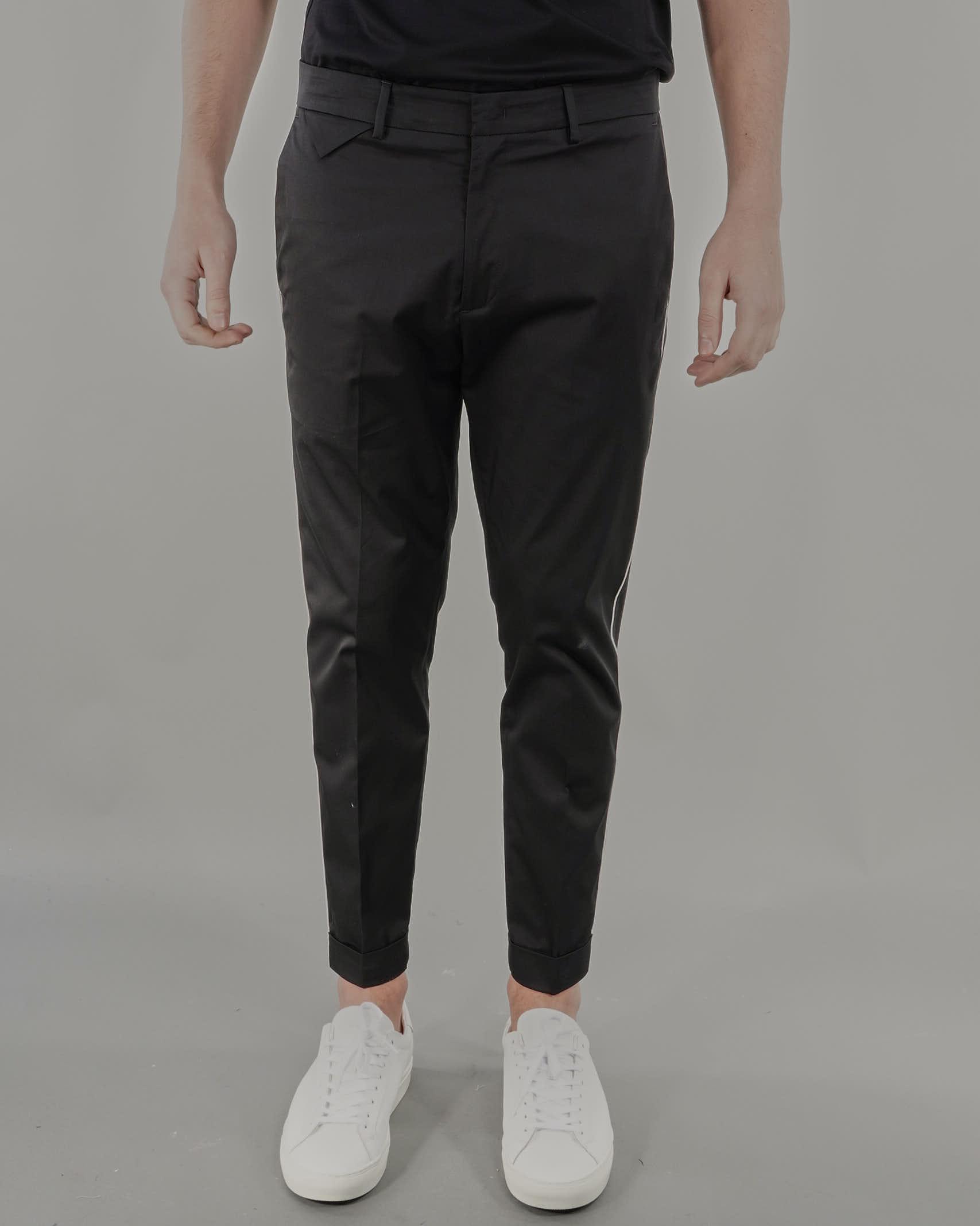 Pantalone in cotone con banda a contasto Low Brand LOW BRAND | Pantalone | L1PSS215686D001