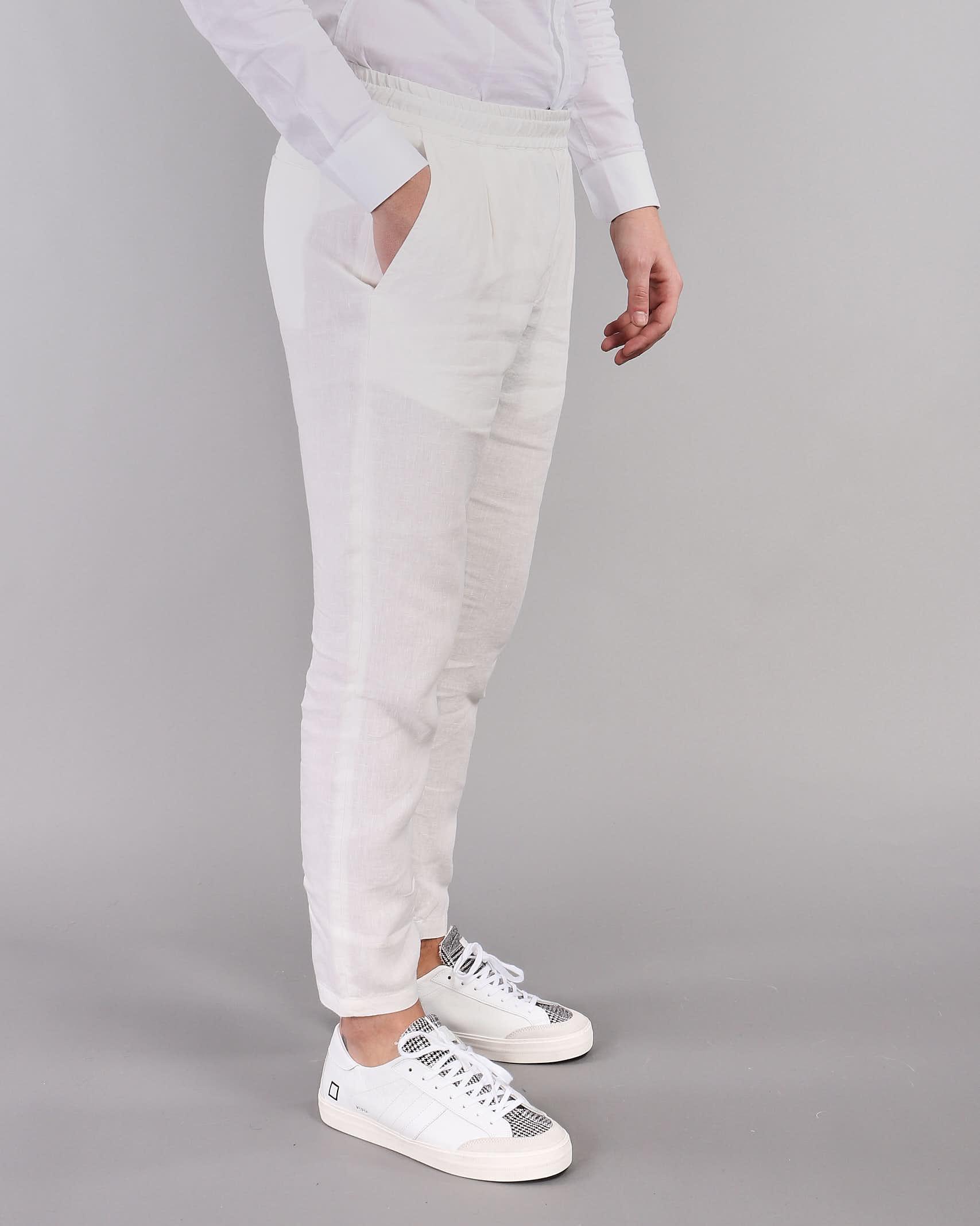 Pantalone in lino con elastico Low Brand LOW BRAND | Pantalone | L1PSS215716A001