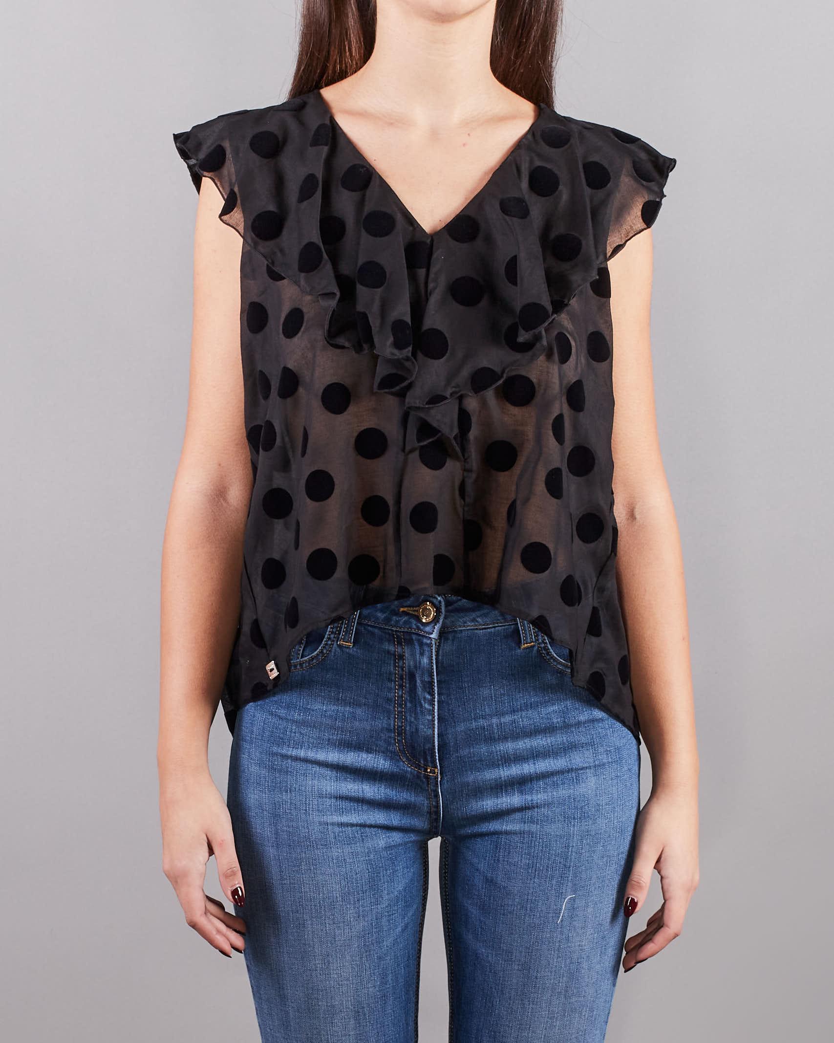 Blusa senza maniche con balze Manila Grace MANILA GRACE   Camicia   C088CPMA001