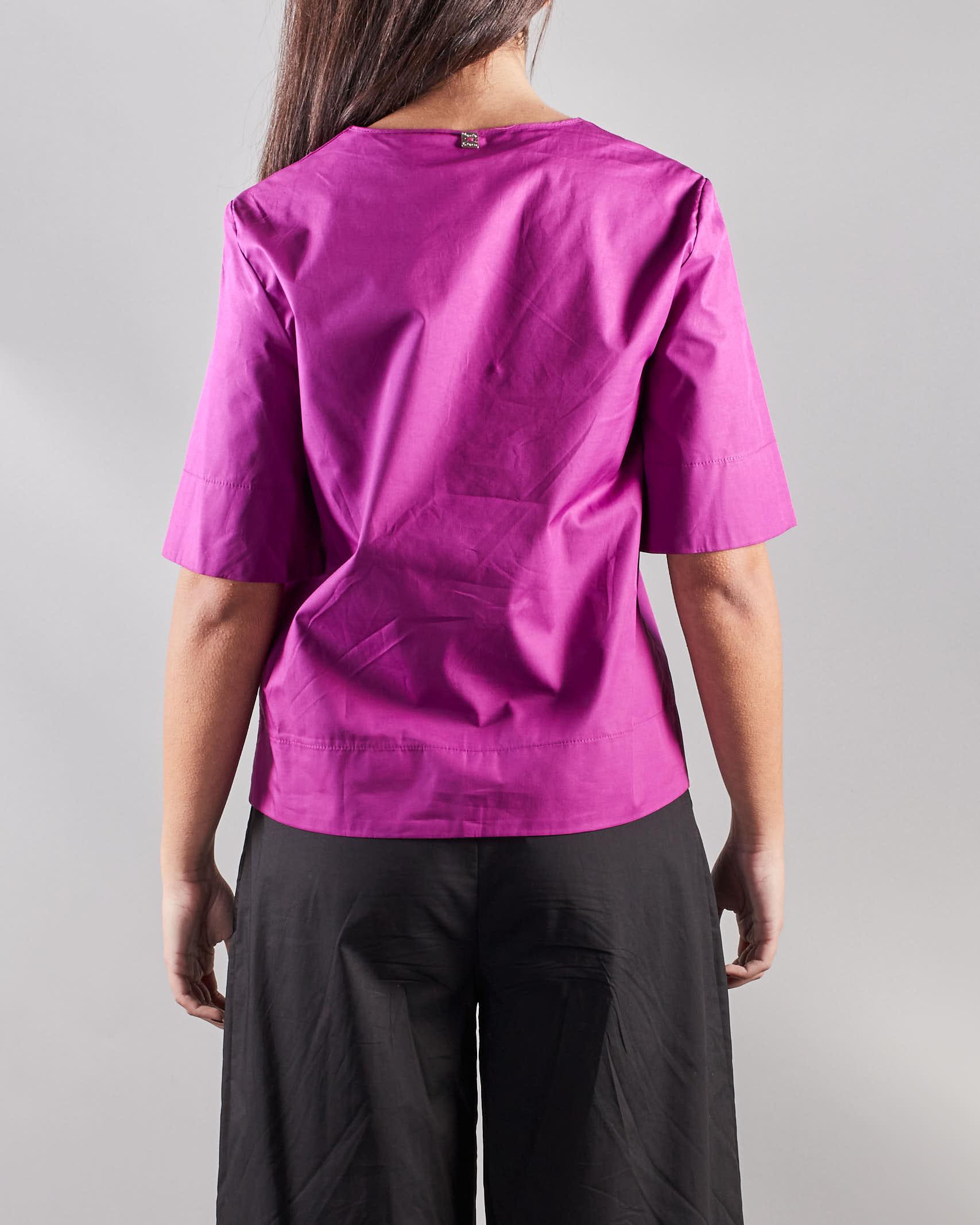 Camicia blusa scatoletta scollo a V Manila Grace MANILA GRACE | Camicia | C166CUMA004