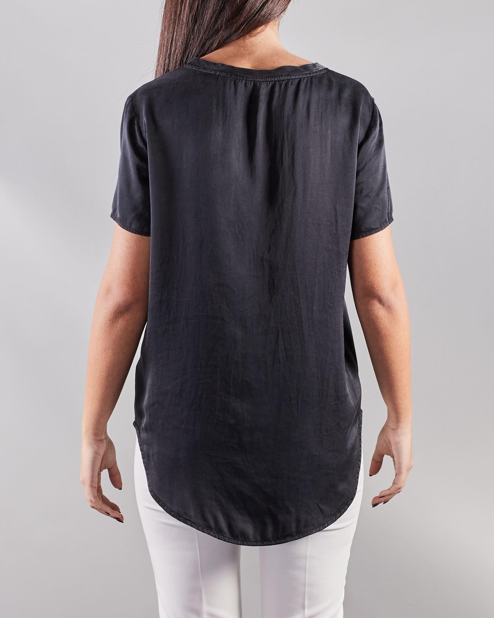 Blusa a maniche corte con taschino Manila Grace MANILA GRACE   Camicia   C335SUMA001