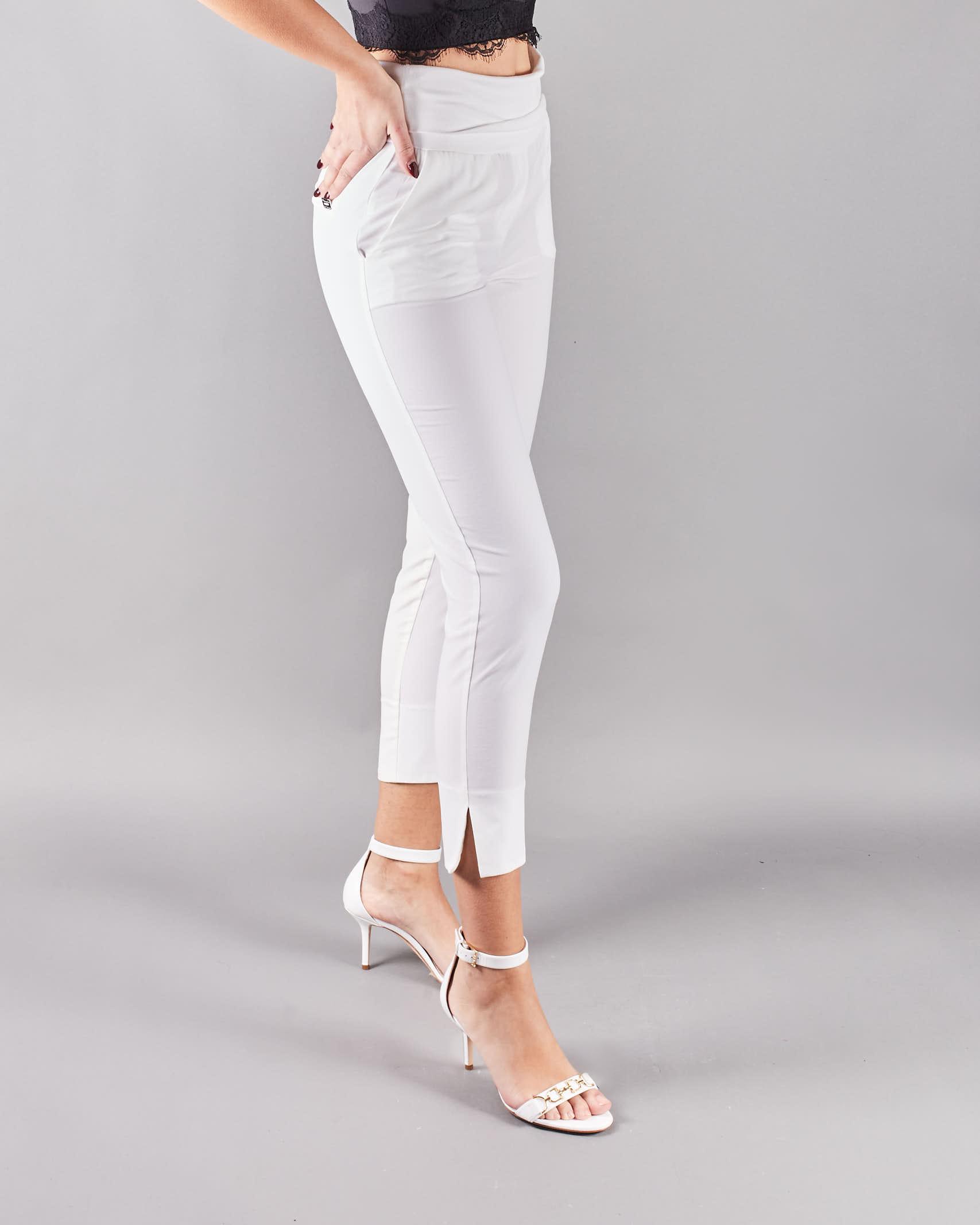 Pantalone con baschina e spacchetti Manila Grace MANILA GRACE | Pantalone | P077PUMA043