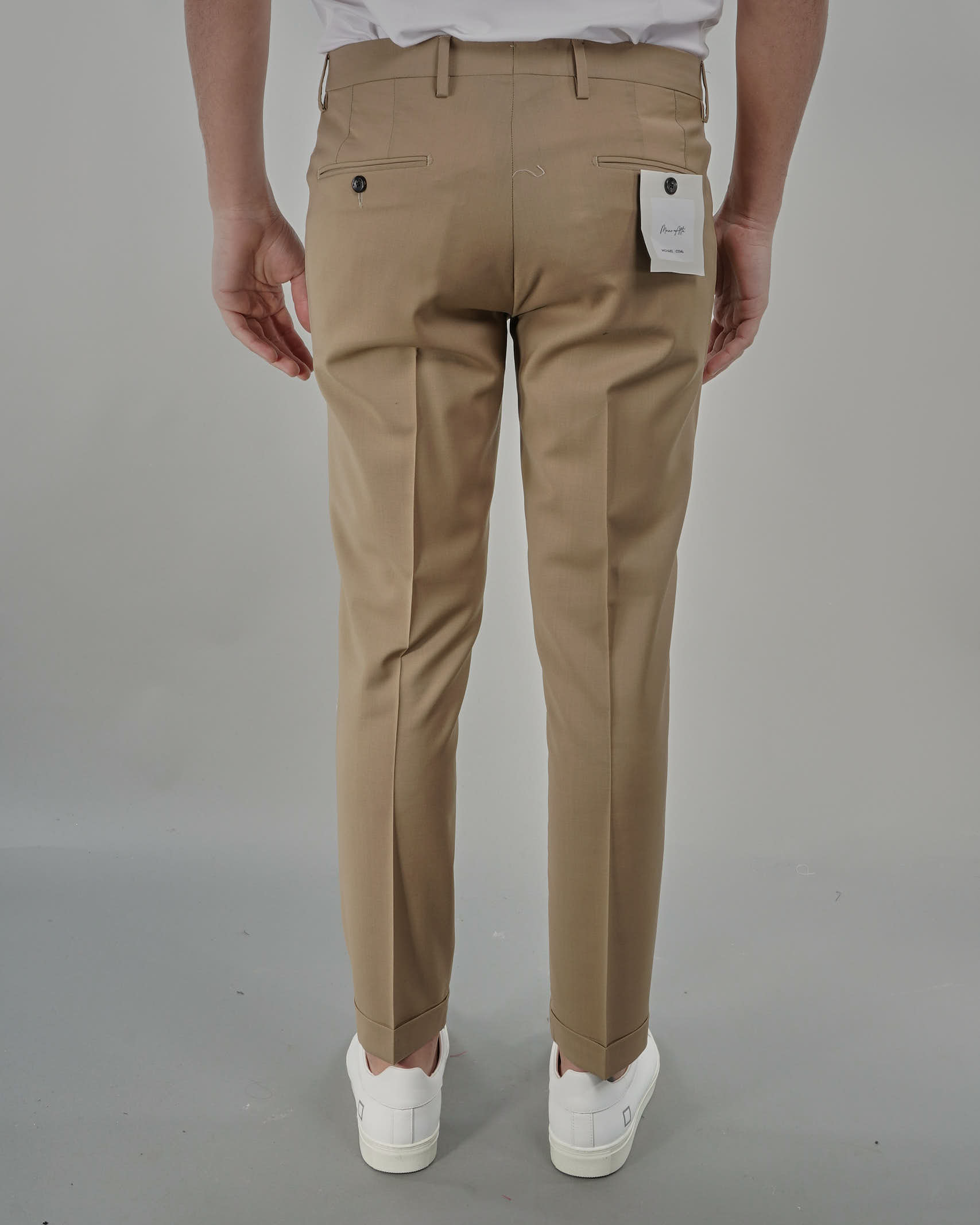 Pantalone in fresco lana Michael Coal MICHAEL COAL   Pantalone   BRAAM03667S21CBEIGE
